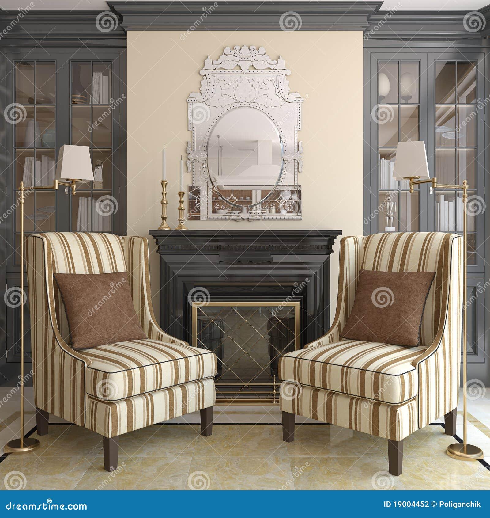Moderne woonkamer met open haard stock fotografie afbeelding 19004452 - Deco moderne open haard ...