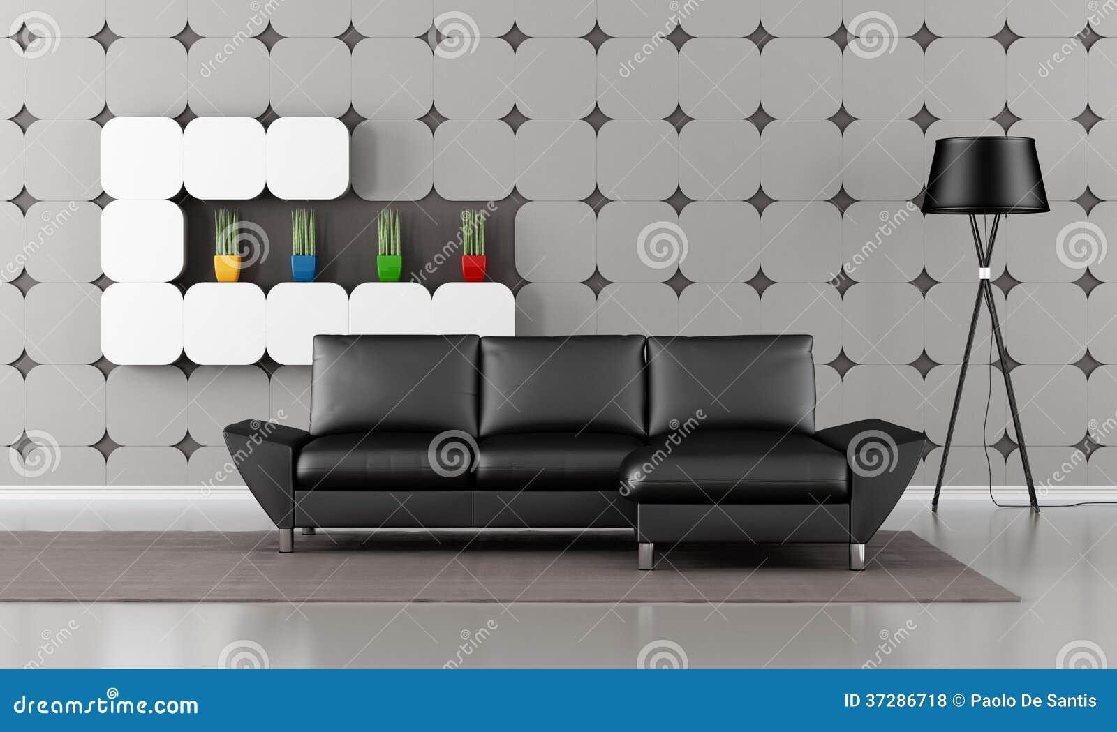 Woonkamer Zwarte Bank : Woonkamer zwarte bank cool kleurrijke kussens op moderne grijze