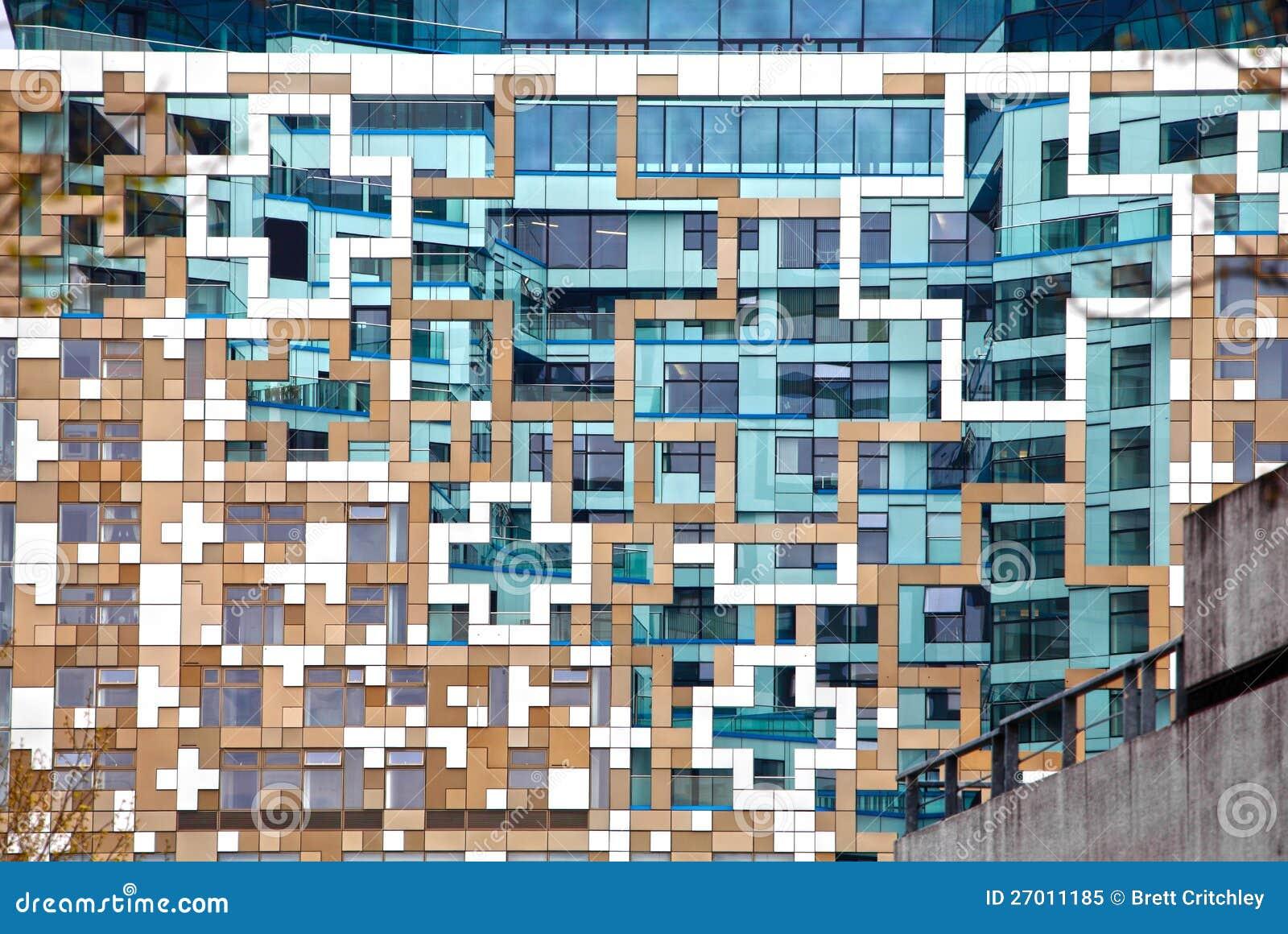 Moderne zeitgenössische Architekturfassade