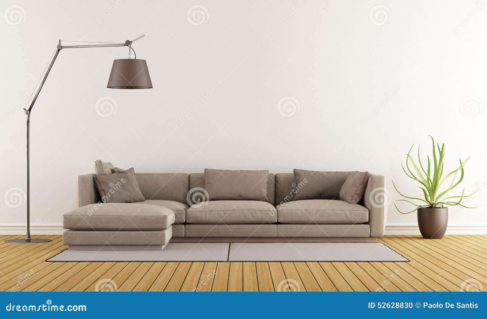 Moderne Zitkamer Stock Illustratie - Afbeelding: 52628830