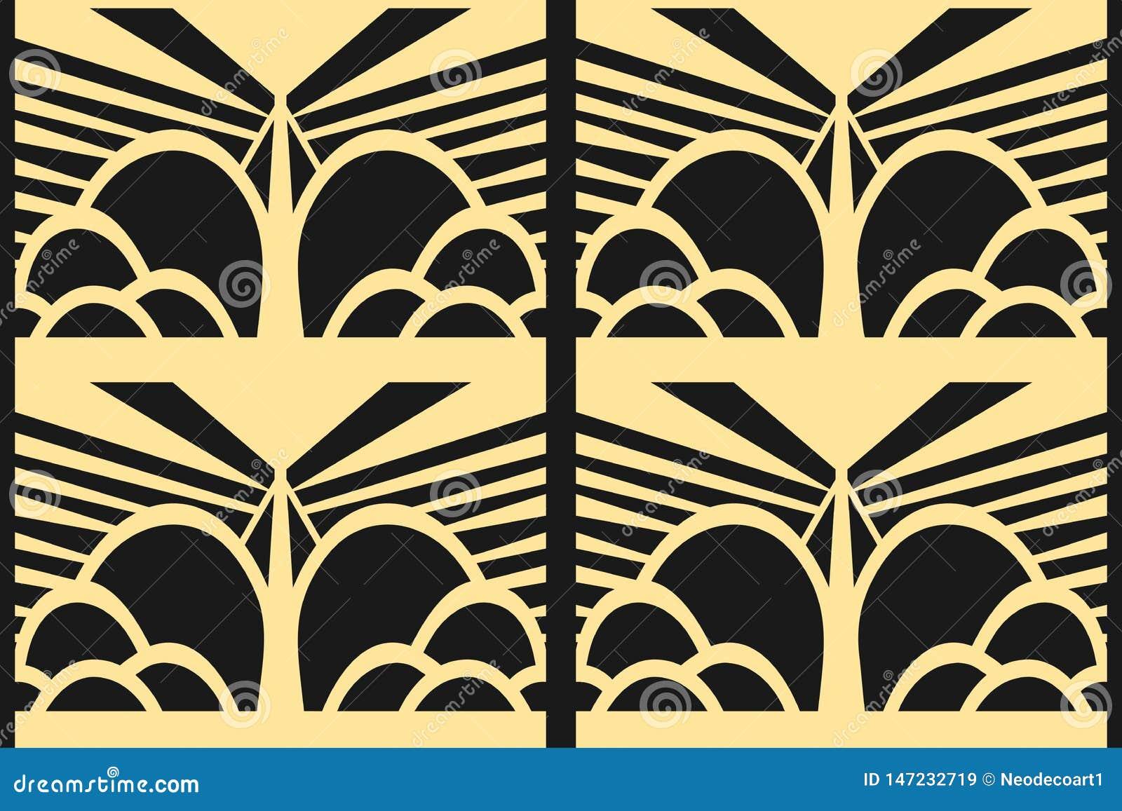 Moderner Art Deco-Hintergrund