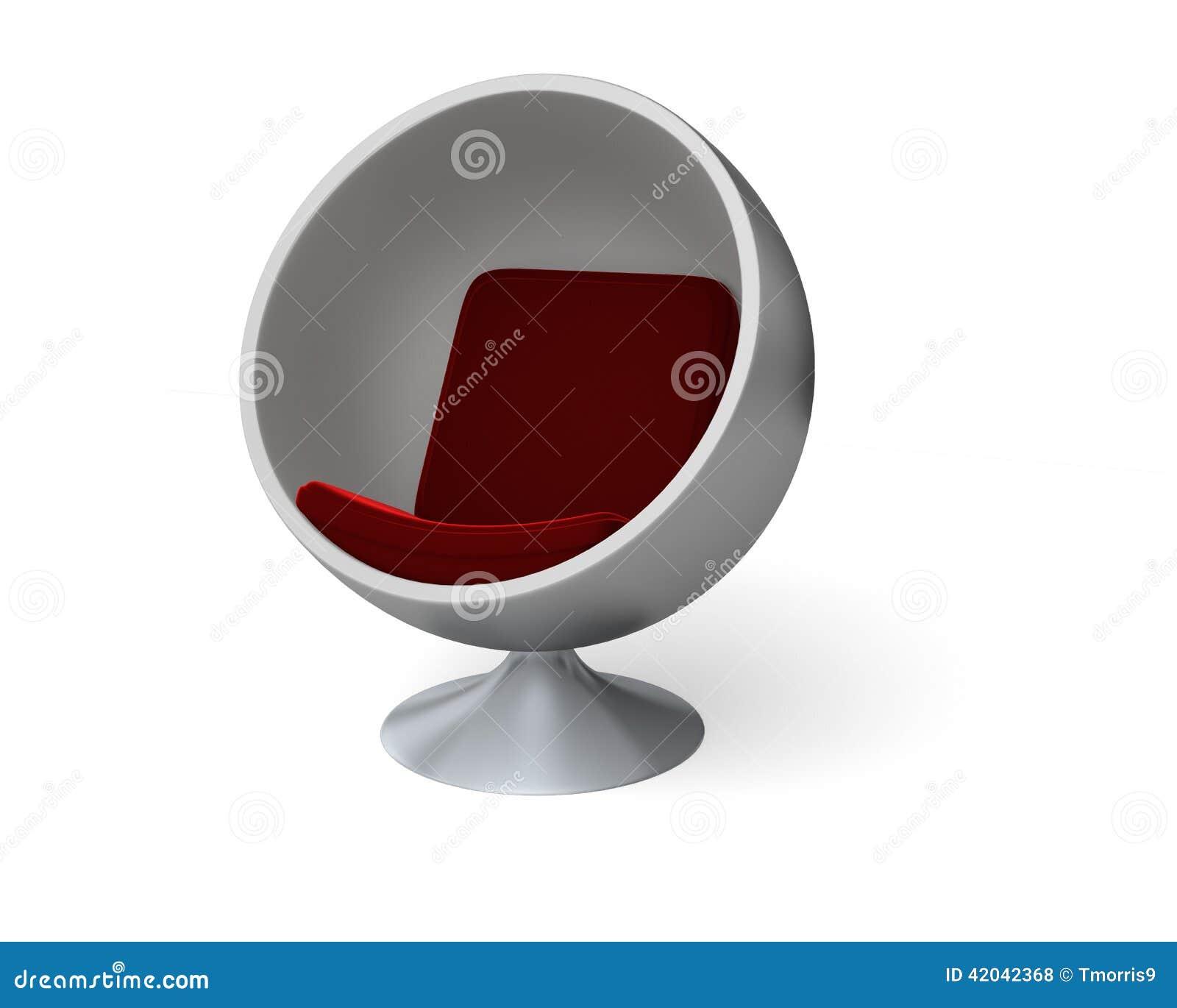 Moderner Ei Stuhl Stock Abbildung Illustration Von Kugel 42042368