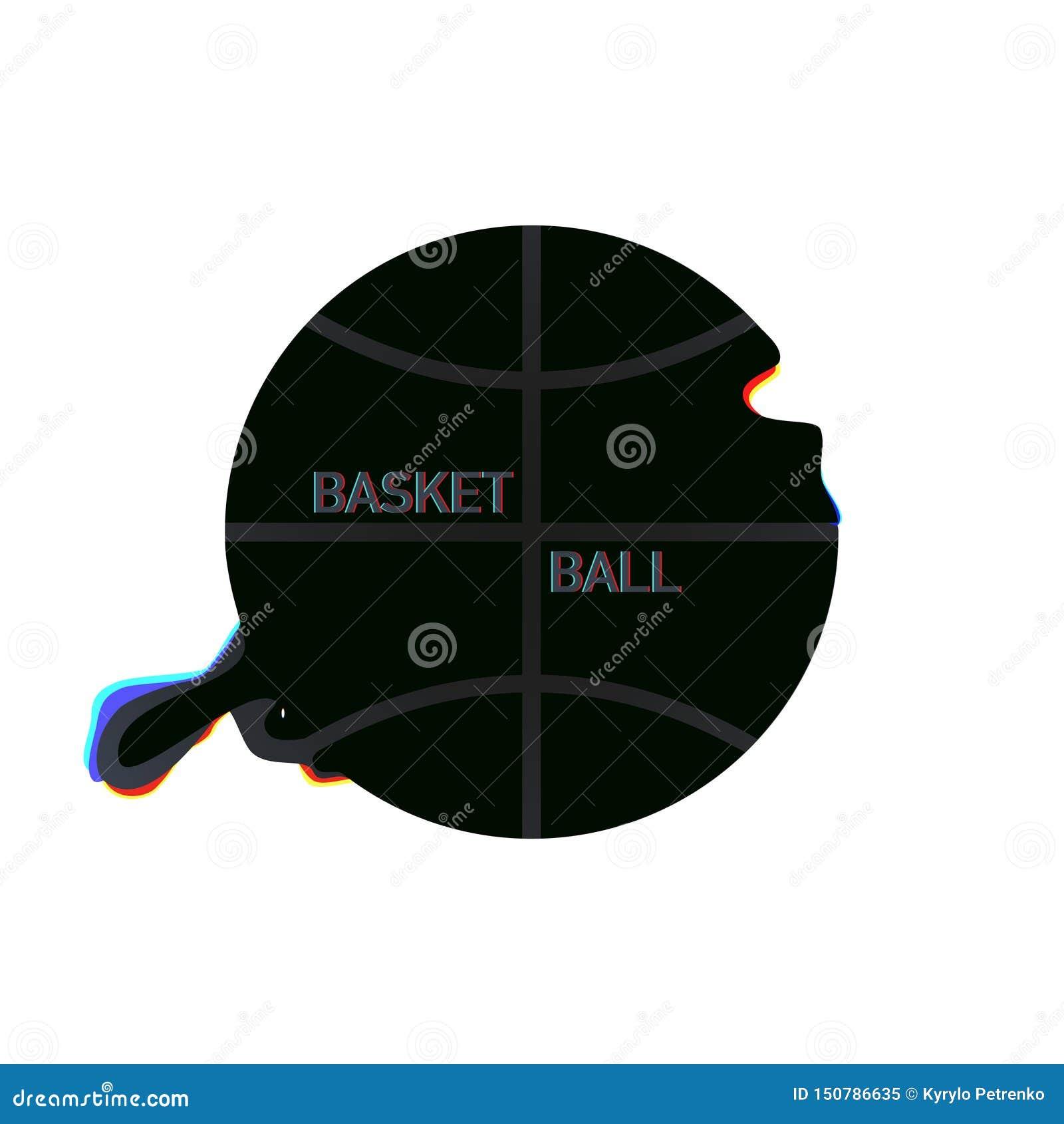 Moderner Entwurf des Korbballs auf weißem Hintergrund