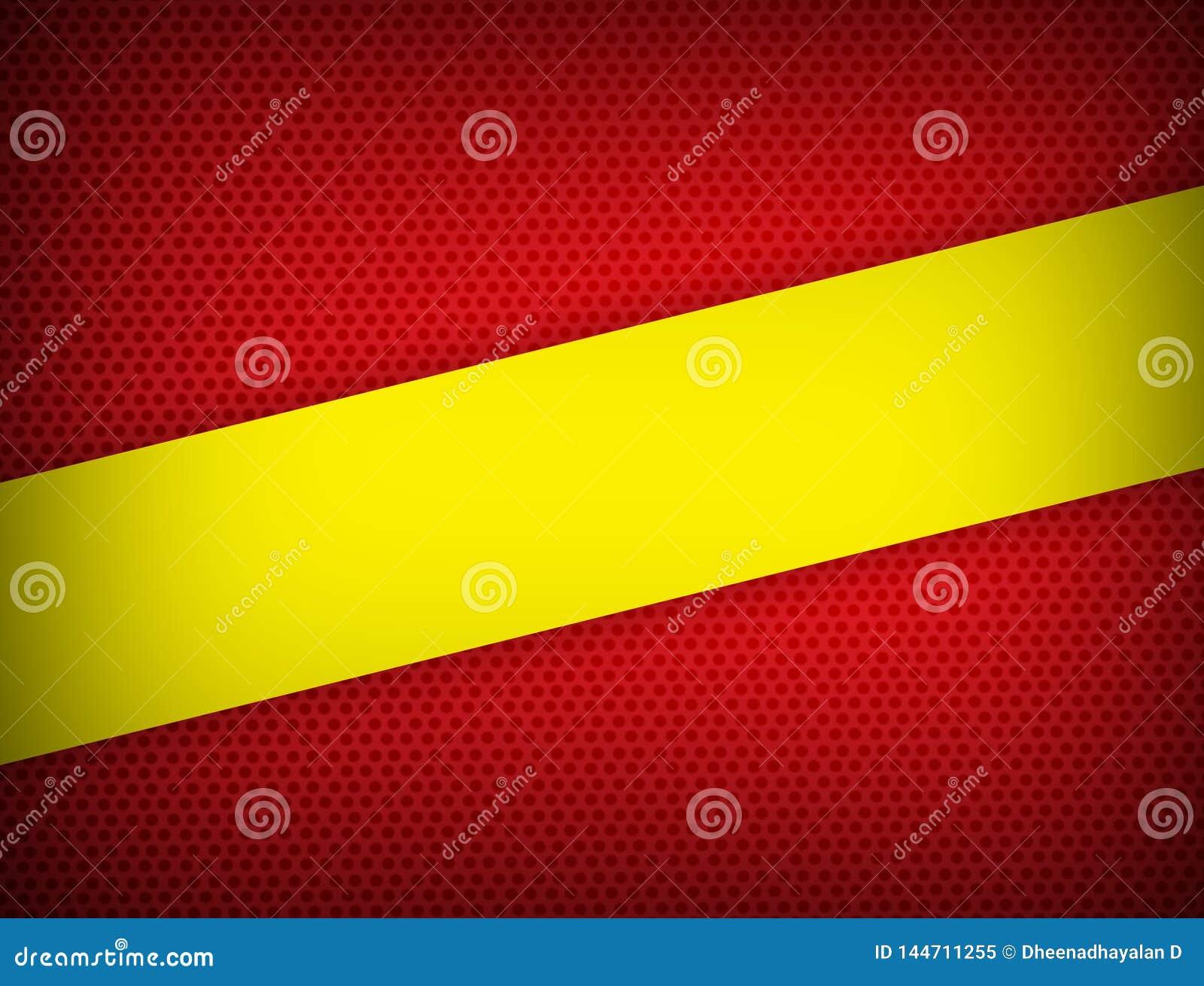 Moderner Entwurf des roten und gelben Farbgeometrischen Zusammenfassungshintergrundes mit Kopienraum Vektorillustration