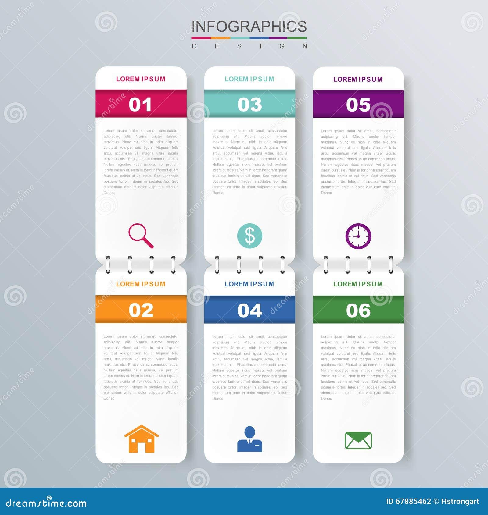 Moderner infographic Entwurf