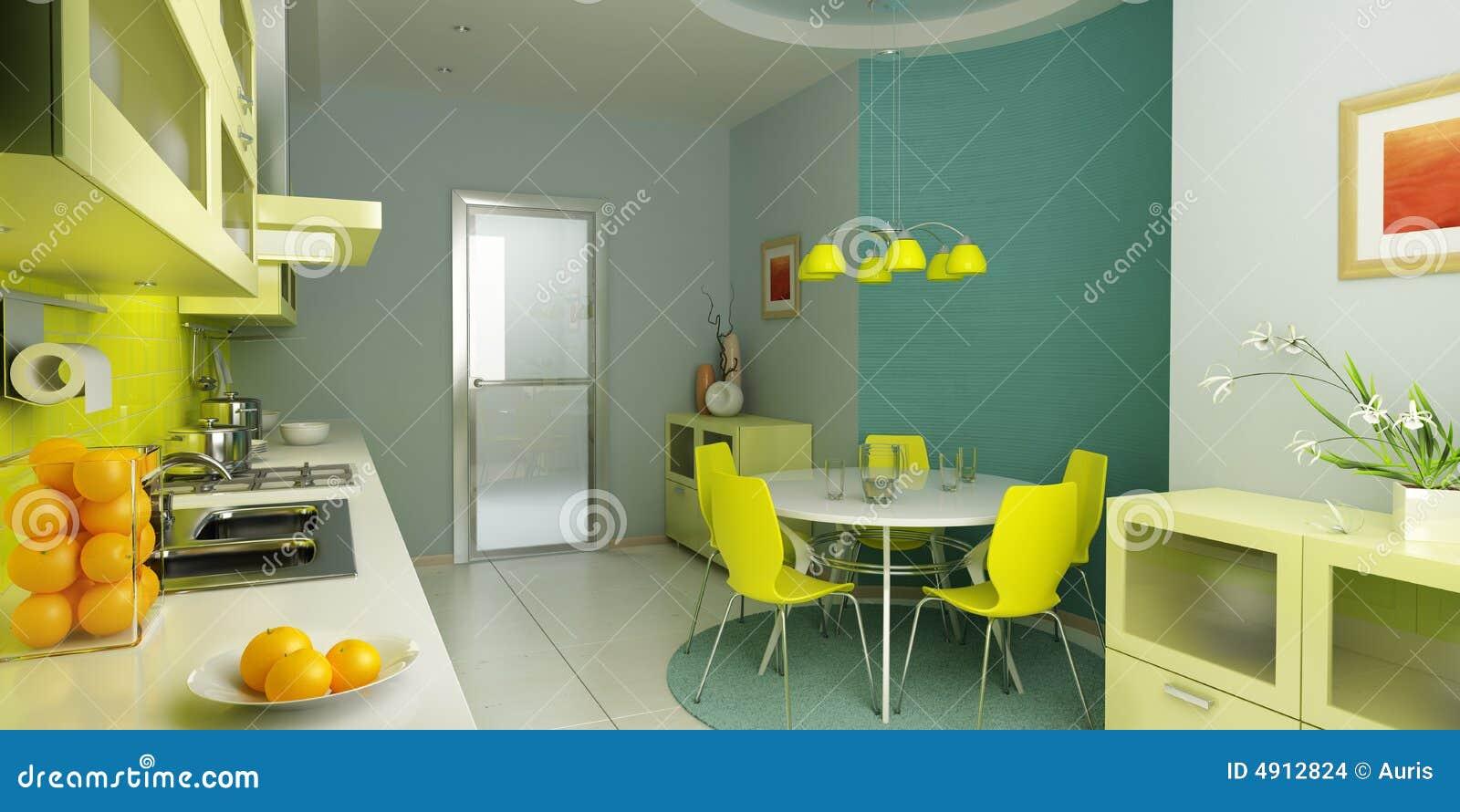 Moderner Kücheinnenraum
