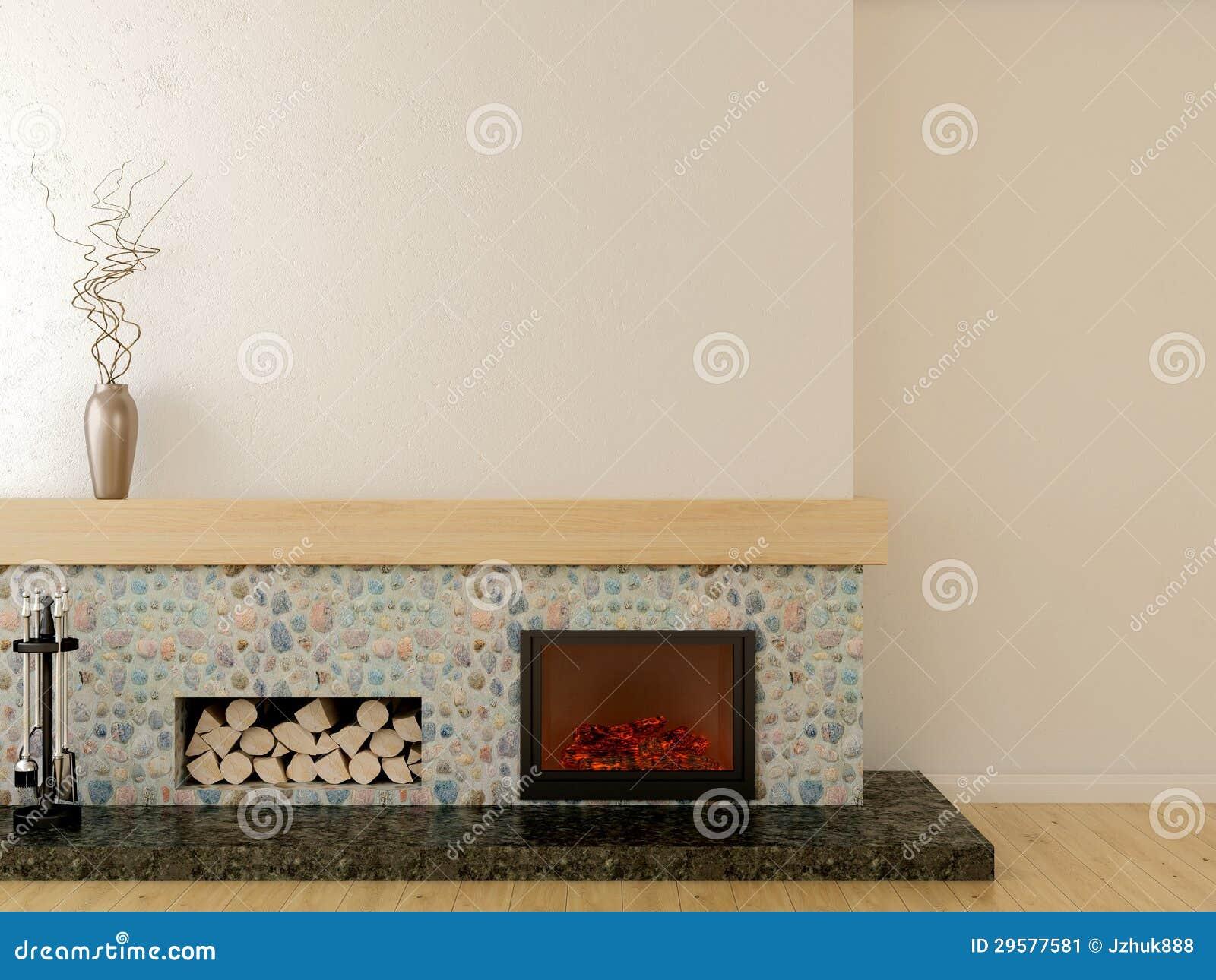 Moderner Kamin stockbild. Bild von leer, sonderkommando - 29577581