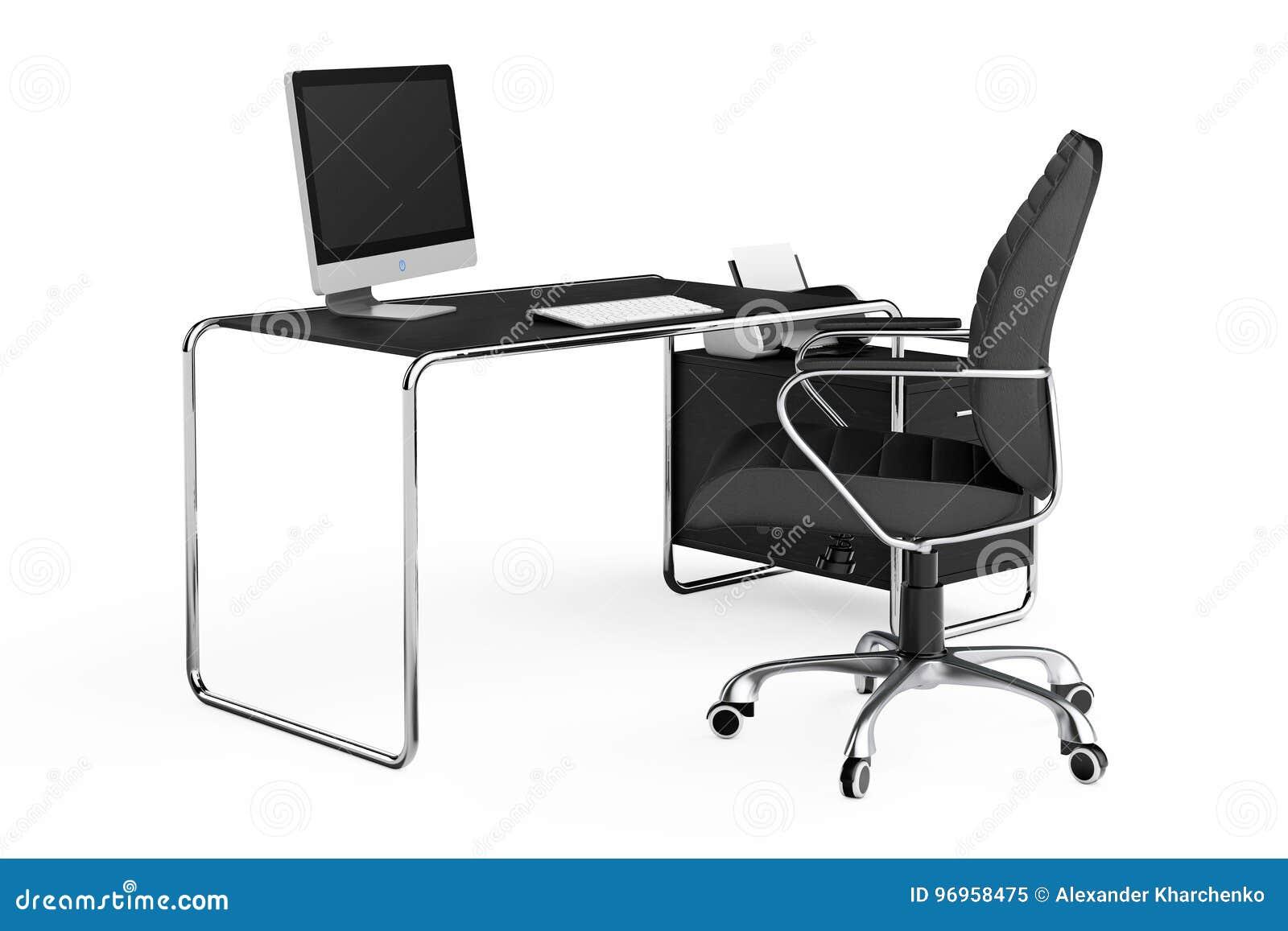 moderner bürotisch moderner kreativer arbeitsplatz computer ist auf bürotisch mit blac kreativer ist auf mit