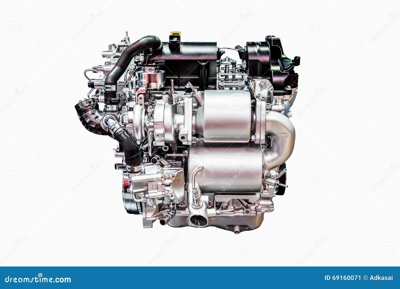 Moderner Leistungsfähiger Automotor Lokalisiert Auf Weiß Stockbild ...