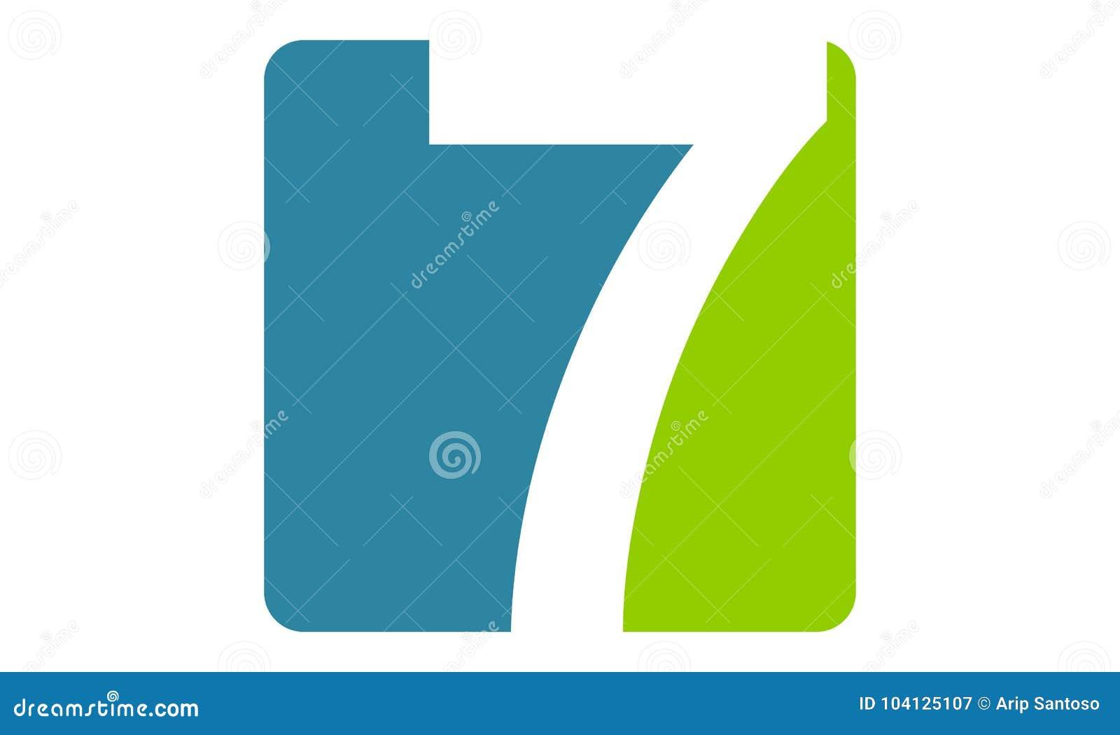 Moderner Logo Number 7