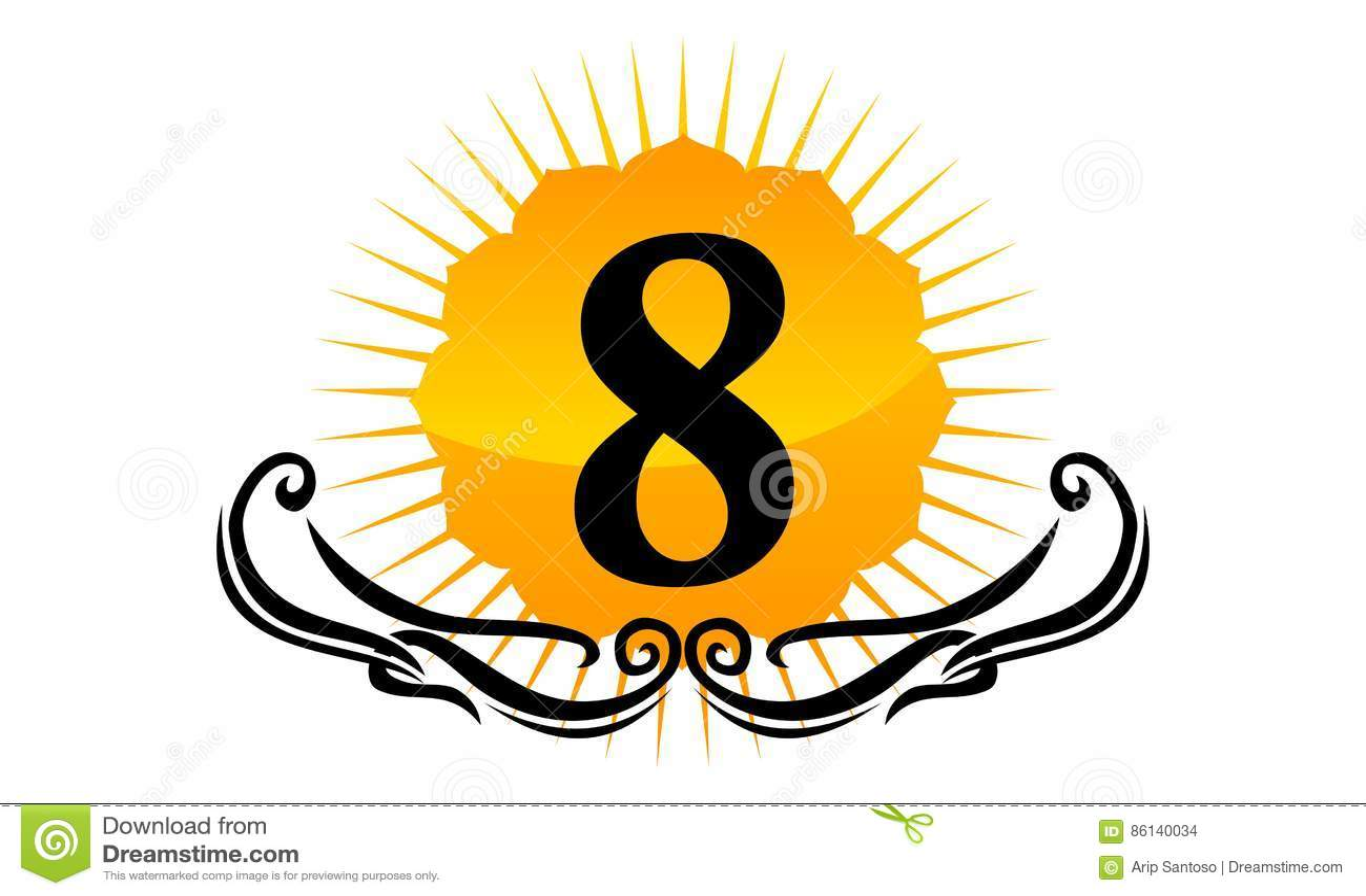 Moderner Logo Number 8