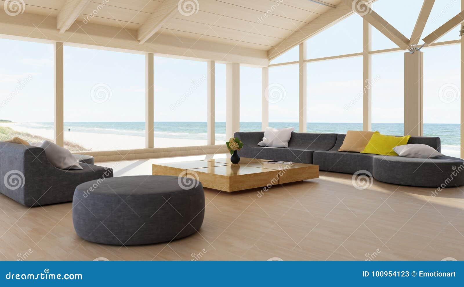Moderner Luxuxwohnzimmerinnenraum