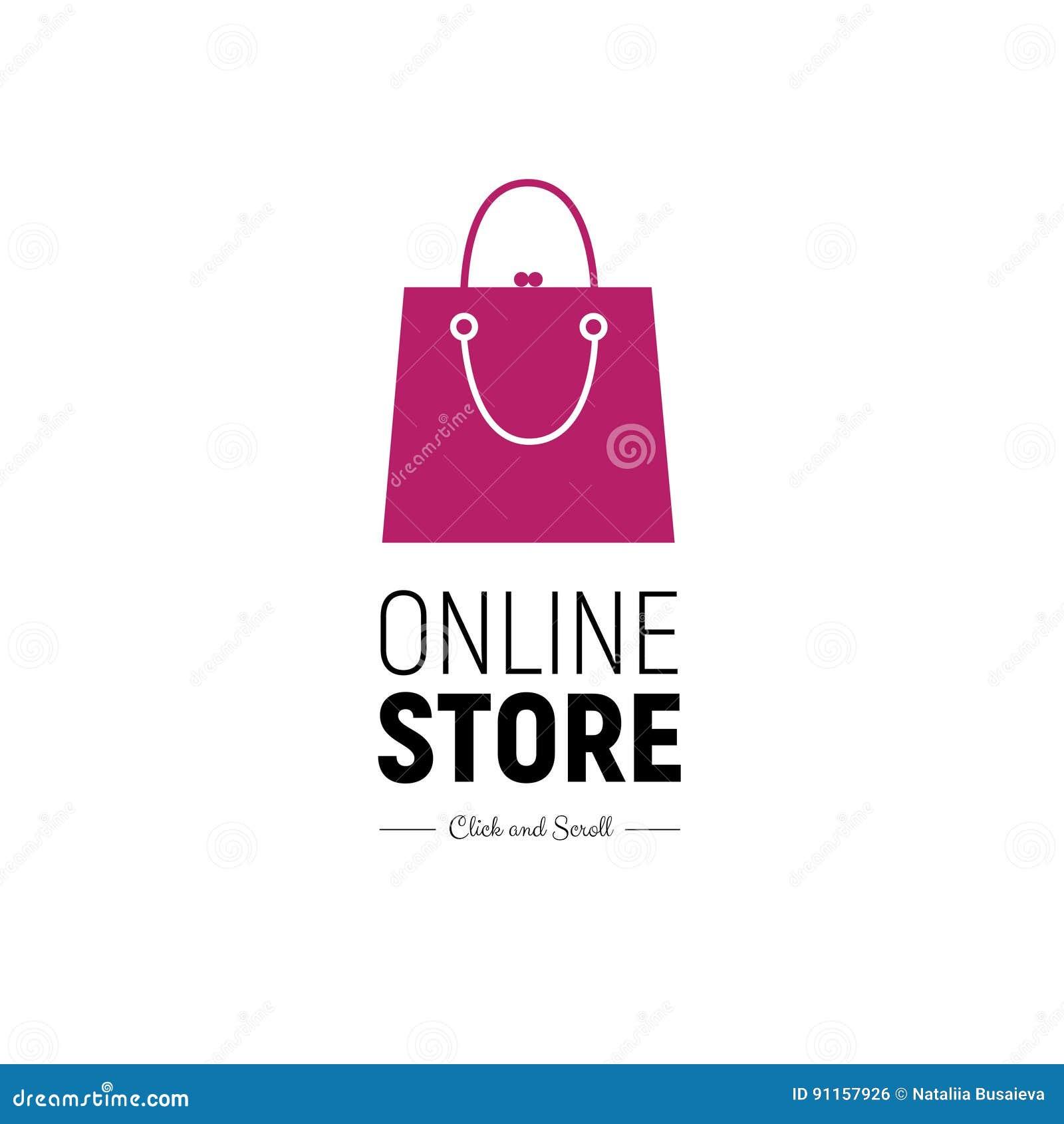 Moderner Netzfahne Online-Shop Mit Moderner Handtasche ...
