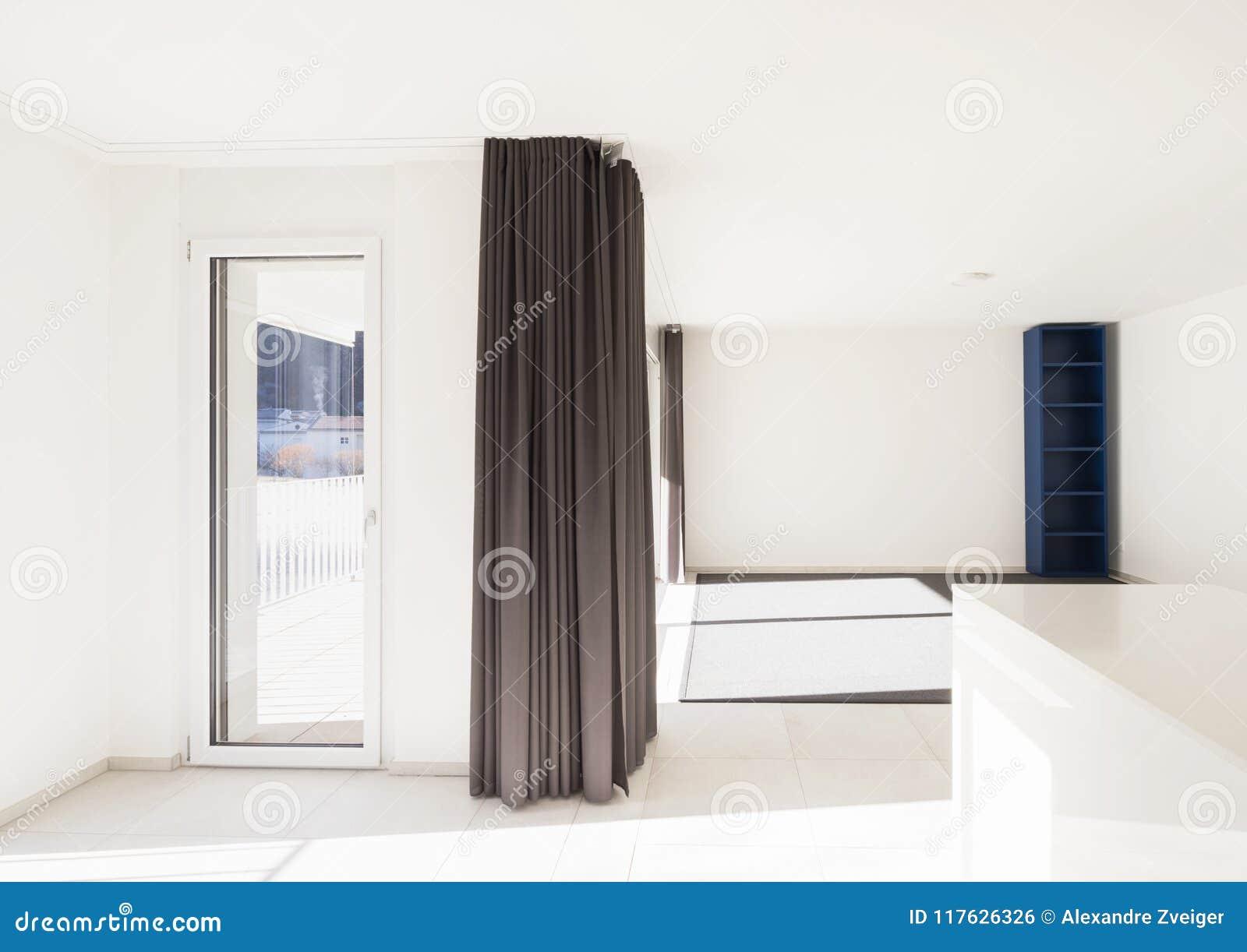 Moderner Offener Raum Mit Wohnzimmer Und Küche Stockfoto - Bild von ...