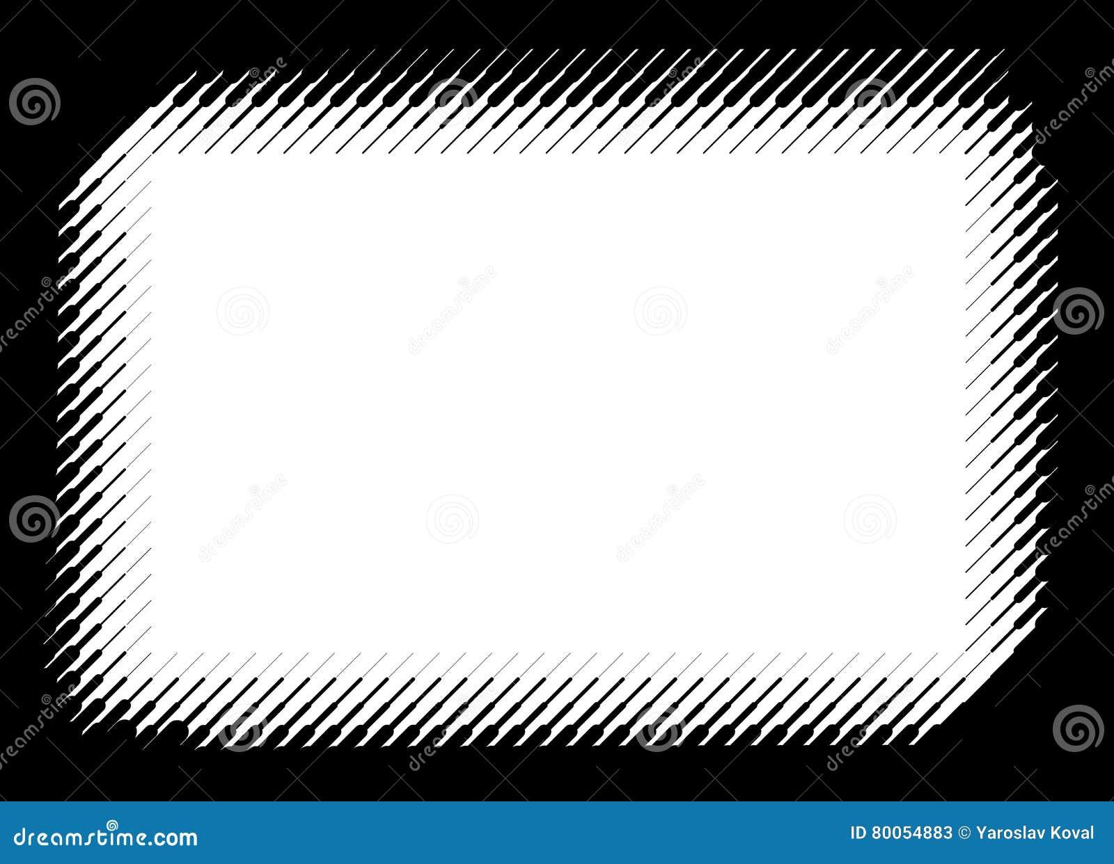 Moderner Rahmen Für Foto Durch Vektorhalbton Zeichnet Vektor ...