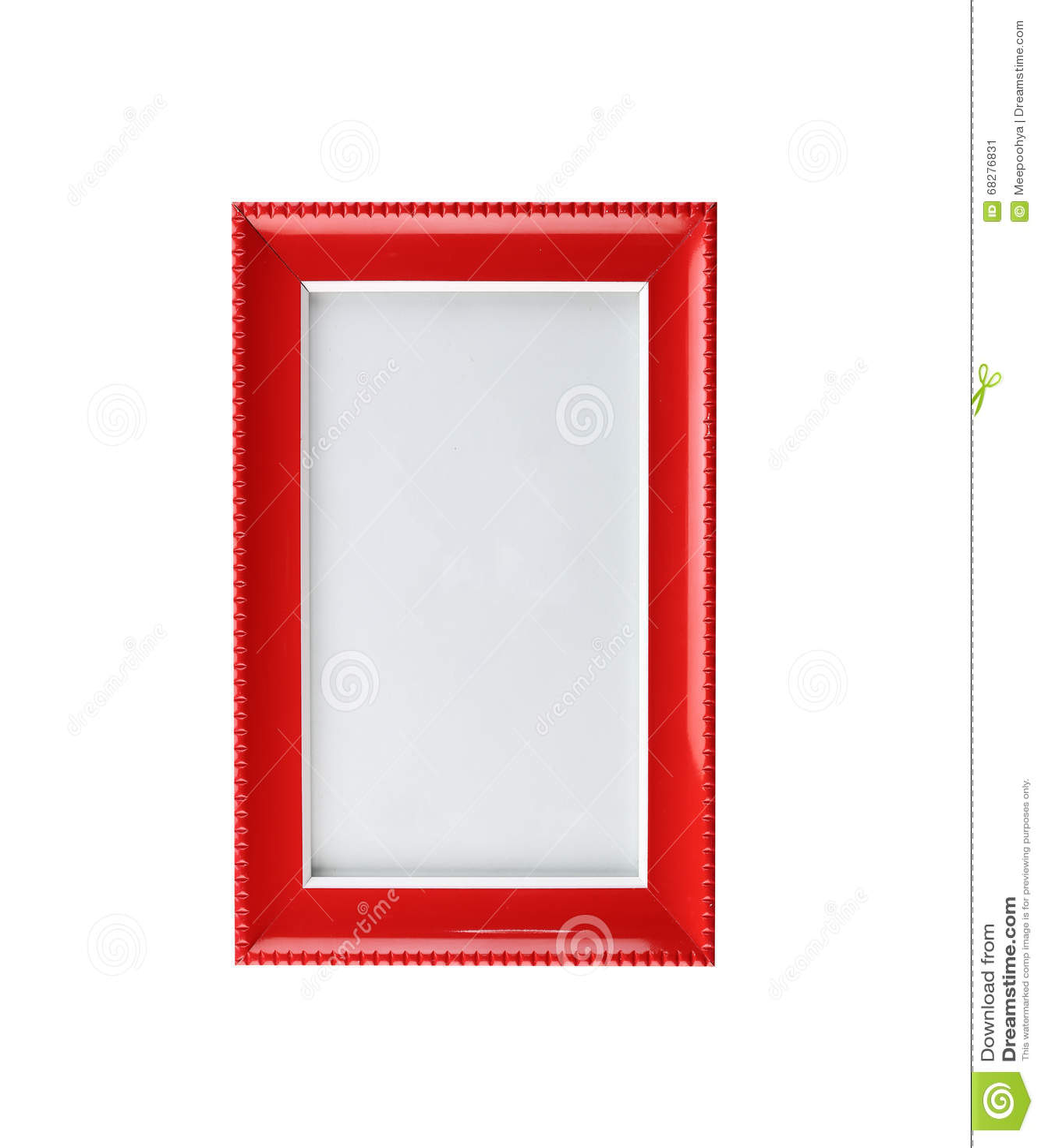 Moderner Roter Bilderrahmen Lokalisiert Stockfoto - Bild: 68276831