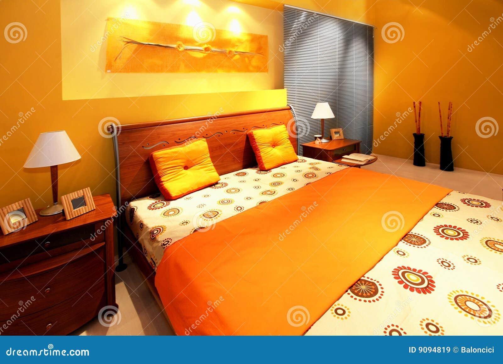 Moderner Schlafzimmerinnenraum