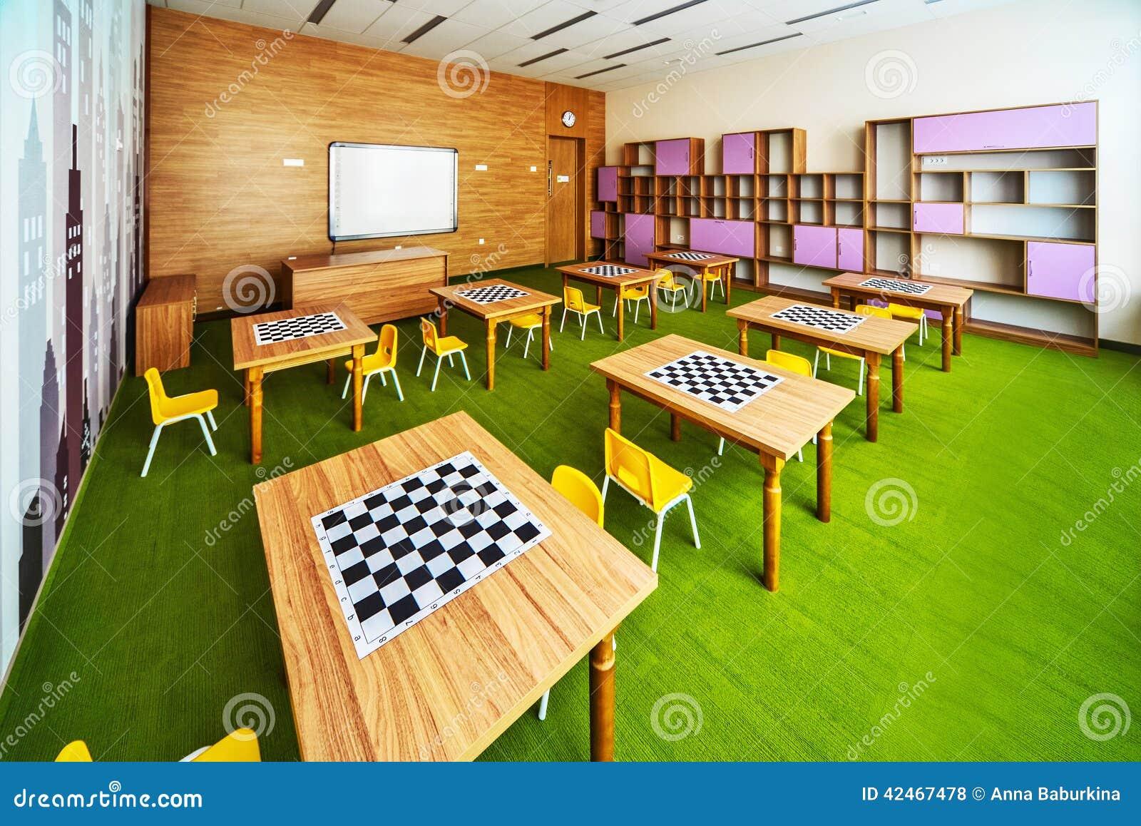 Moderner Schulinnenraum