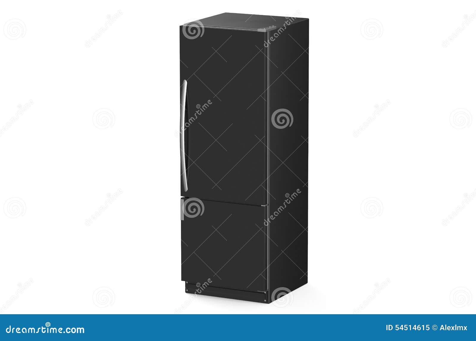Moderner Schwarzer Kühlschrank Stock Abbildung - Bild: 54514615