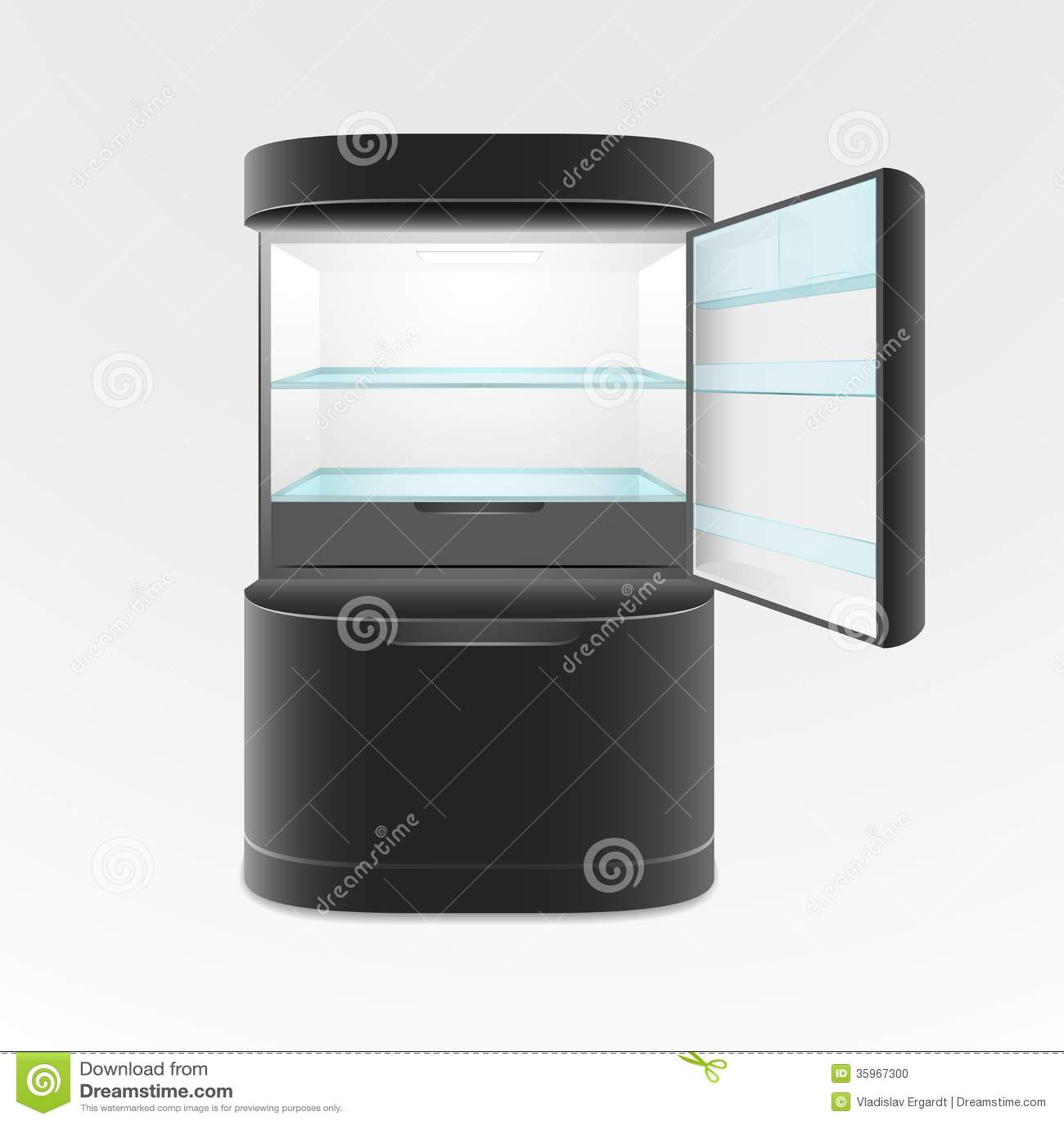 moderner schwarzer k hlschrank mit zwei t ren stockfoto. Black Bedroom Furniture Sets. Home Design Ideas