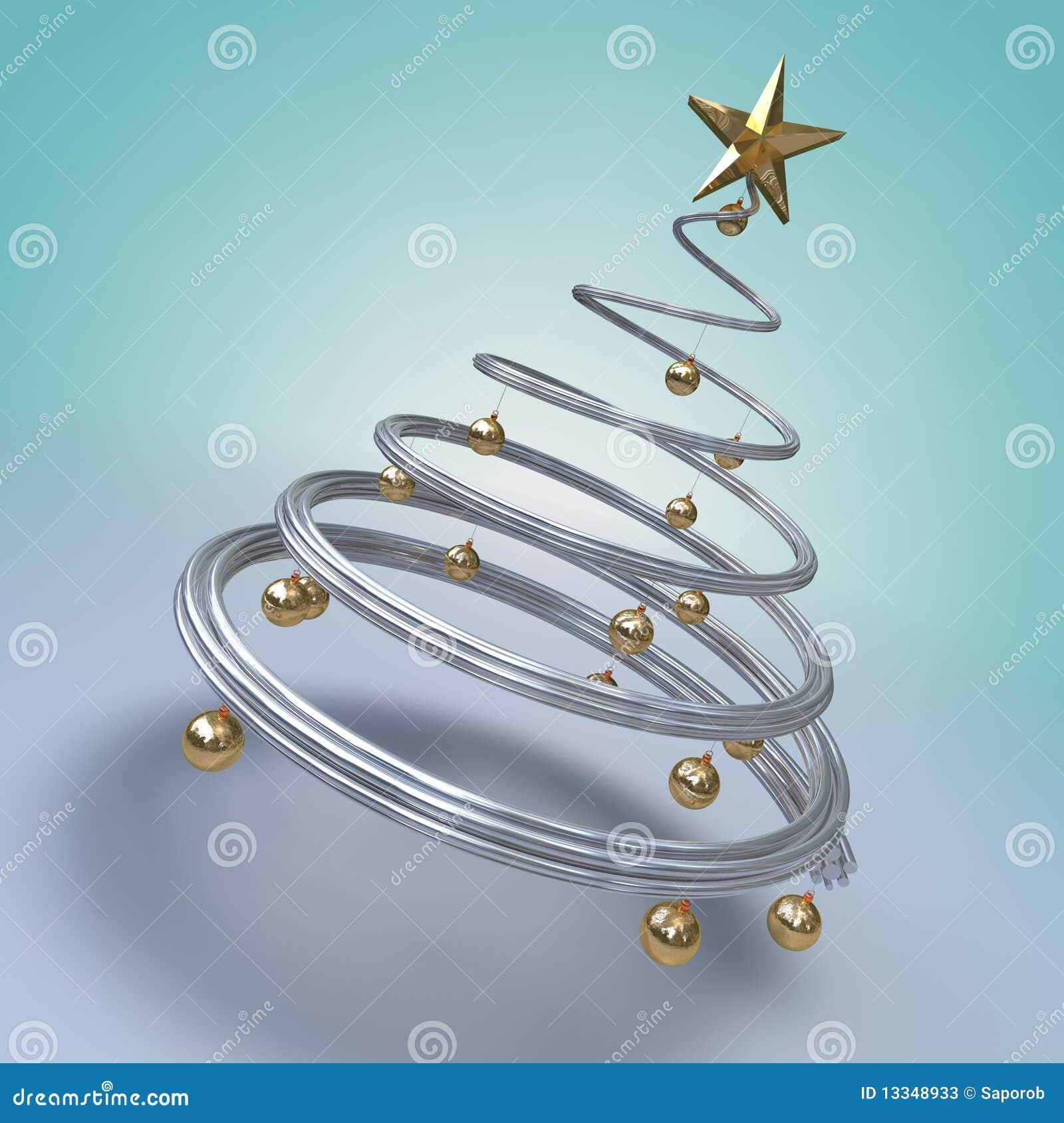 moderner weihnachtsbaum stock abbildung bild von. Black Bedroom Furniture Sets. Home Design Ideas