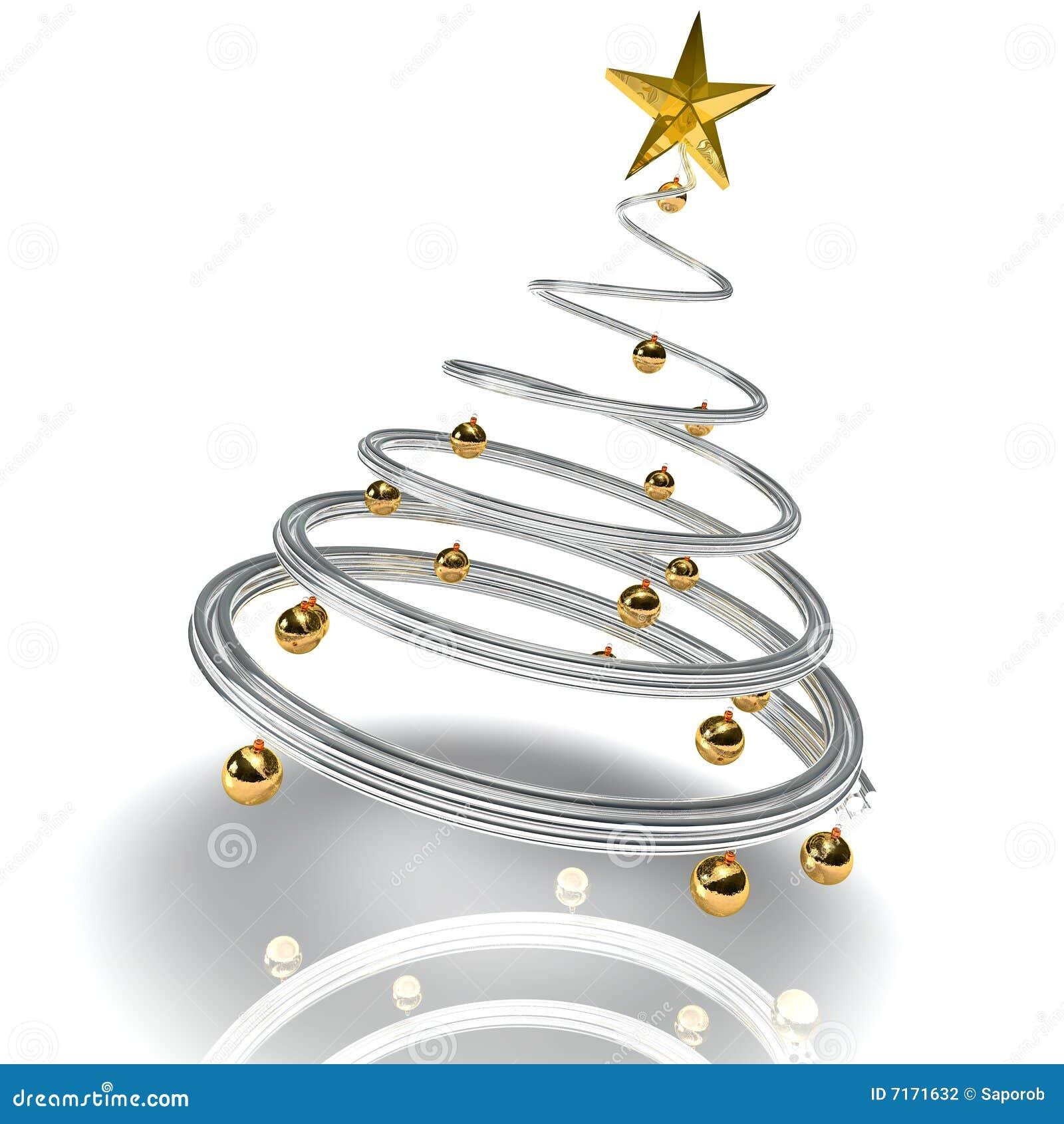 moderner weihnachtsbaum stock abbildung illustration von. Black Bedroom Furniture Sets. Home Design Ideas