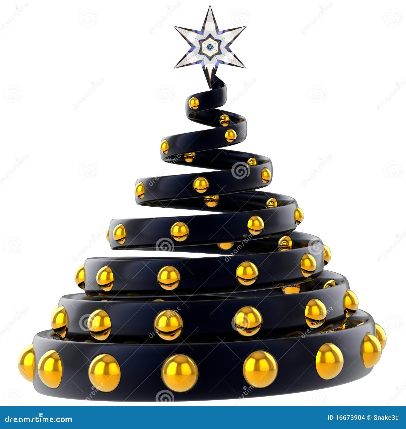 Moderner weihnachtsbaum stilisiert mieten stockbilder bild 16673904 - Schwarzer weihnachtsbaum ...