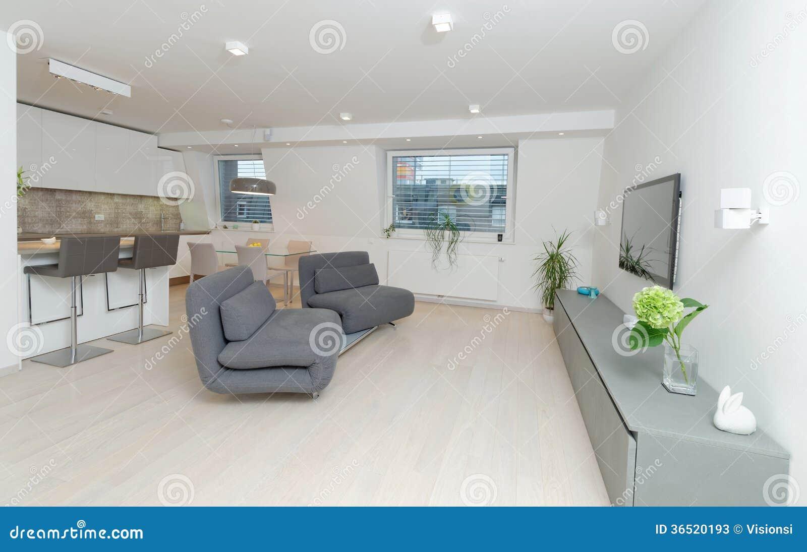 Moderner Wohnzimmerinnenraum