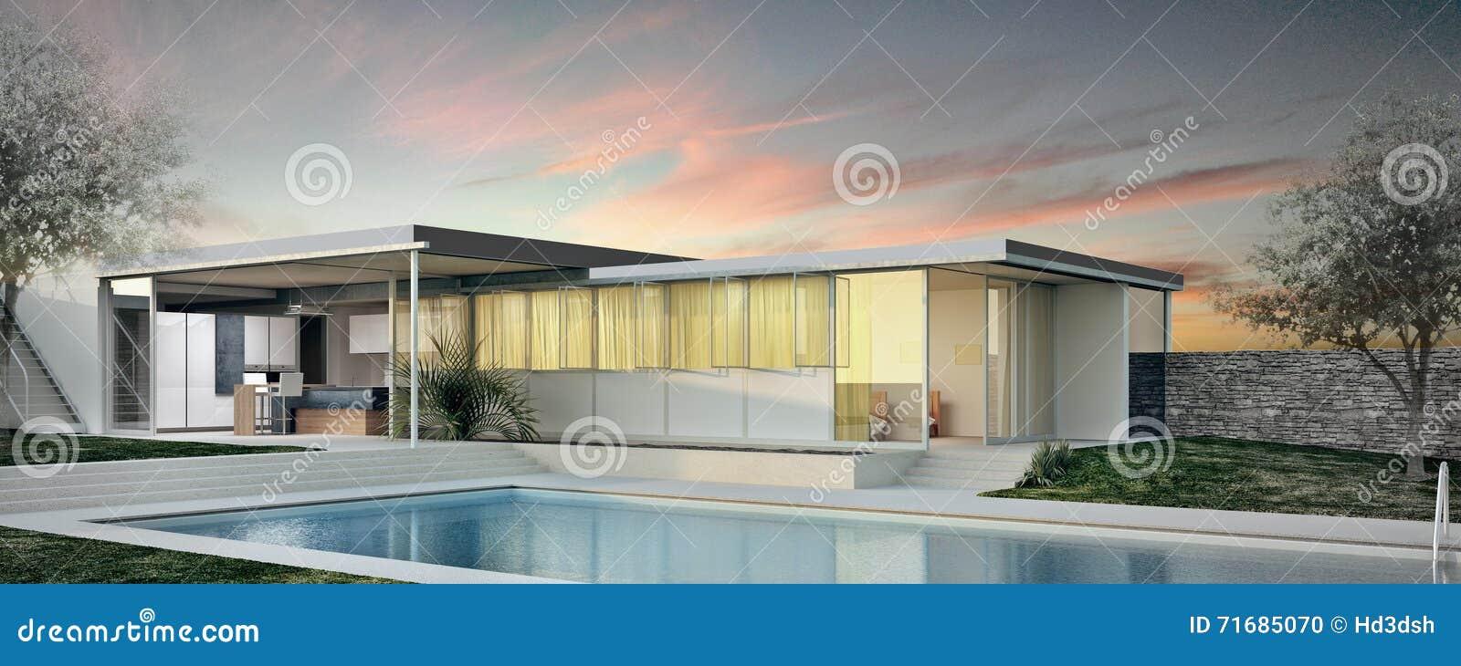 Modernes Außendesign Des Hauses Stockfoto - Bild von haus, außen ...