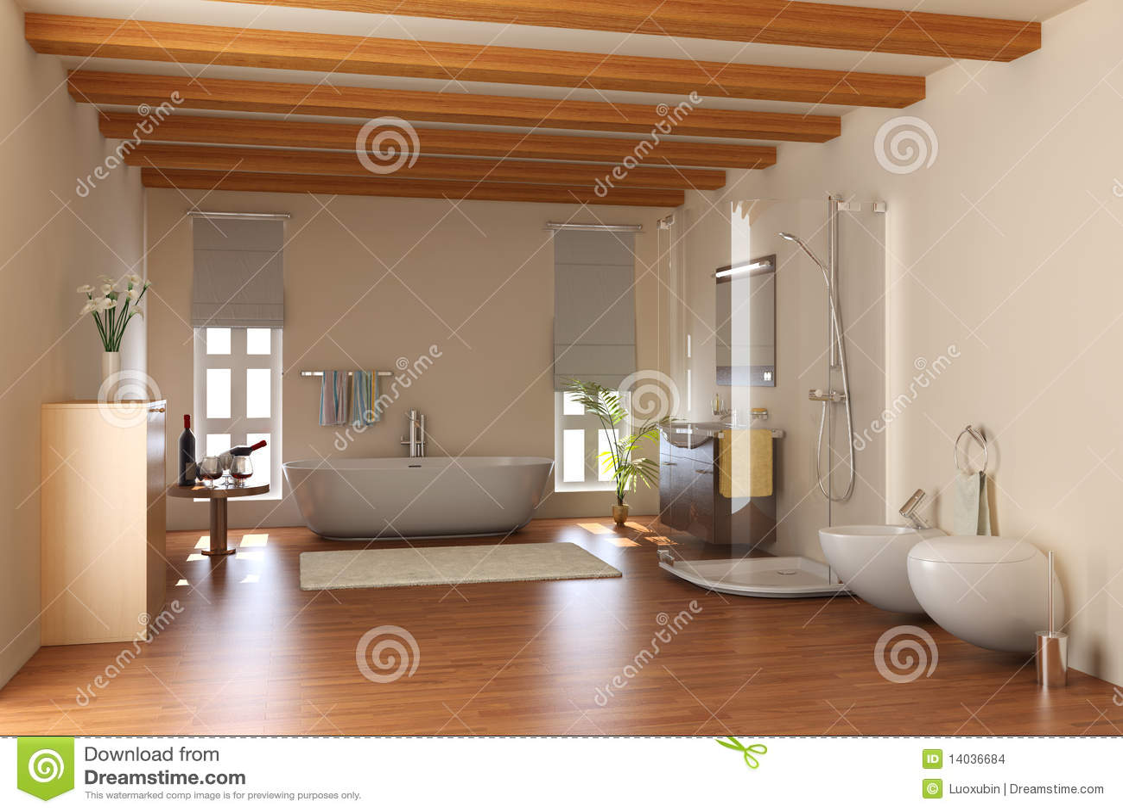 Modernes badezimmer architektur ~ Modernes Badezimmer mit Badewanne ...