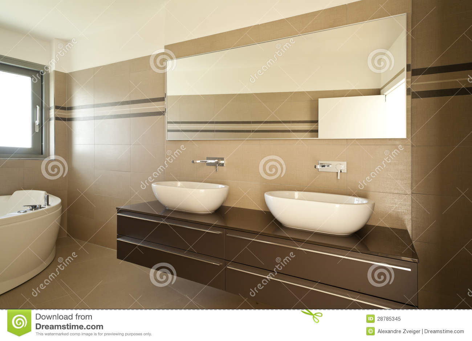 modernes badezimmer lizenzfreies stockfoto - bild: 28785345, Badezimmer ideen