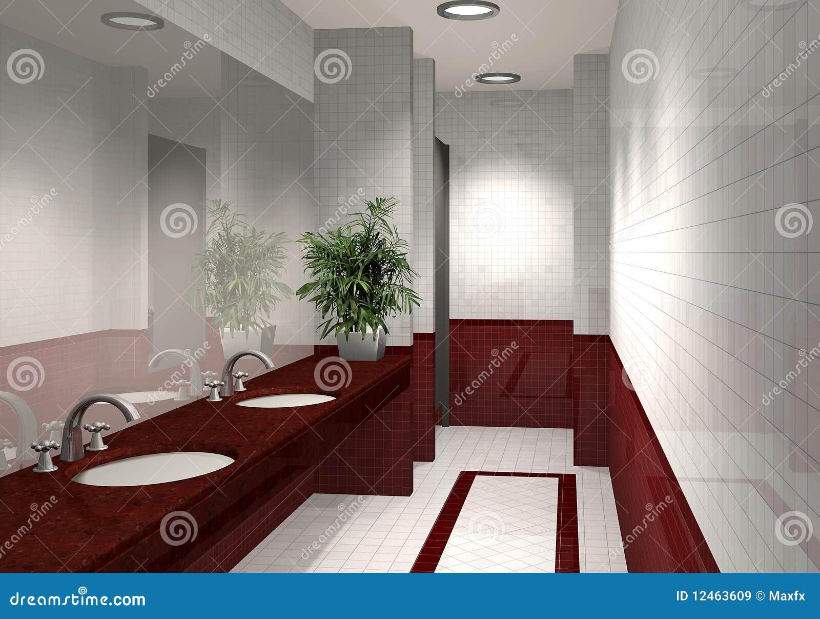 Download Modernes Badezimmer 3D Stock Abbildung. Illustration Von Spiegel    12463609