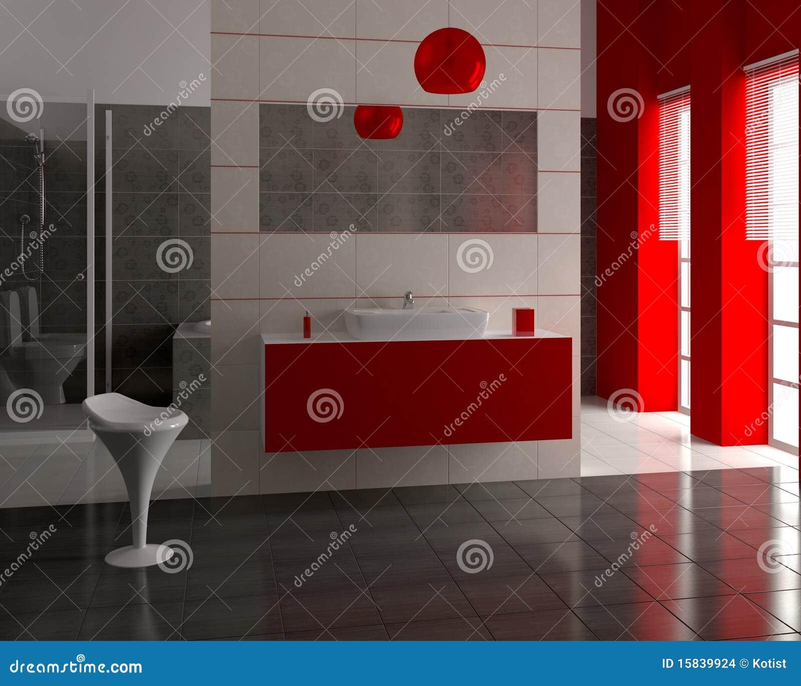 Modernes Badezimmer 3d stockfoto. Bild von hygiene, zeitgenössisch ...