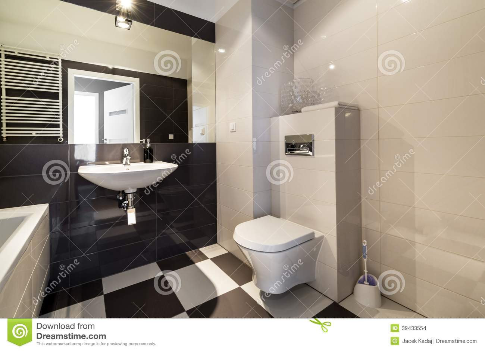 Download Modernes Badezimmer In Der Beige Farbe Stockfoto   Bild Von Bidet,  Badezimmer: 39433554