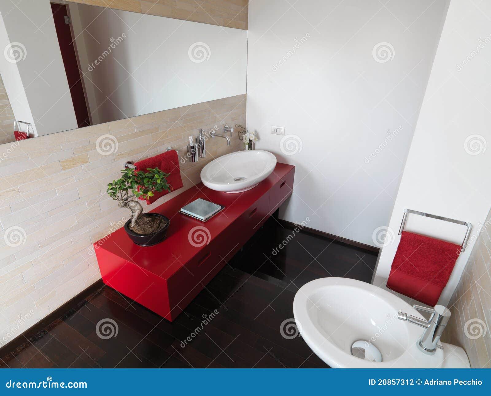 Download Modernes Badezimmer Mit Bunten Möbeln Stockfoto   Bild Von Farbe,  Fußboden: 20857312
