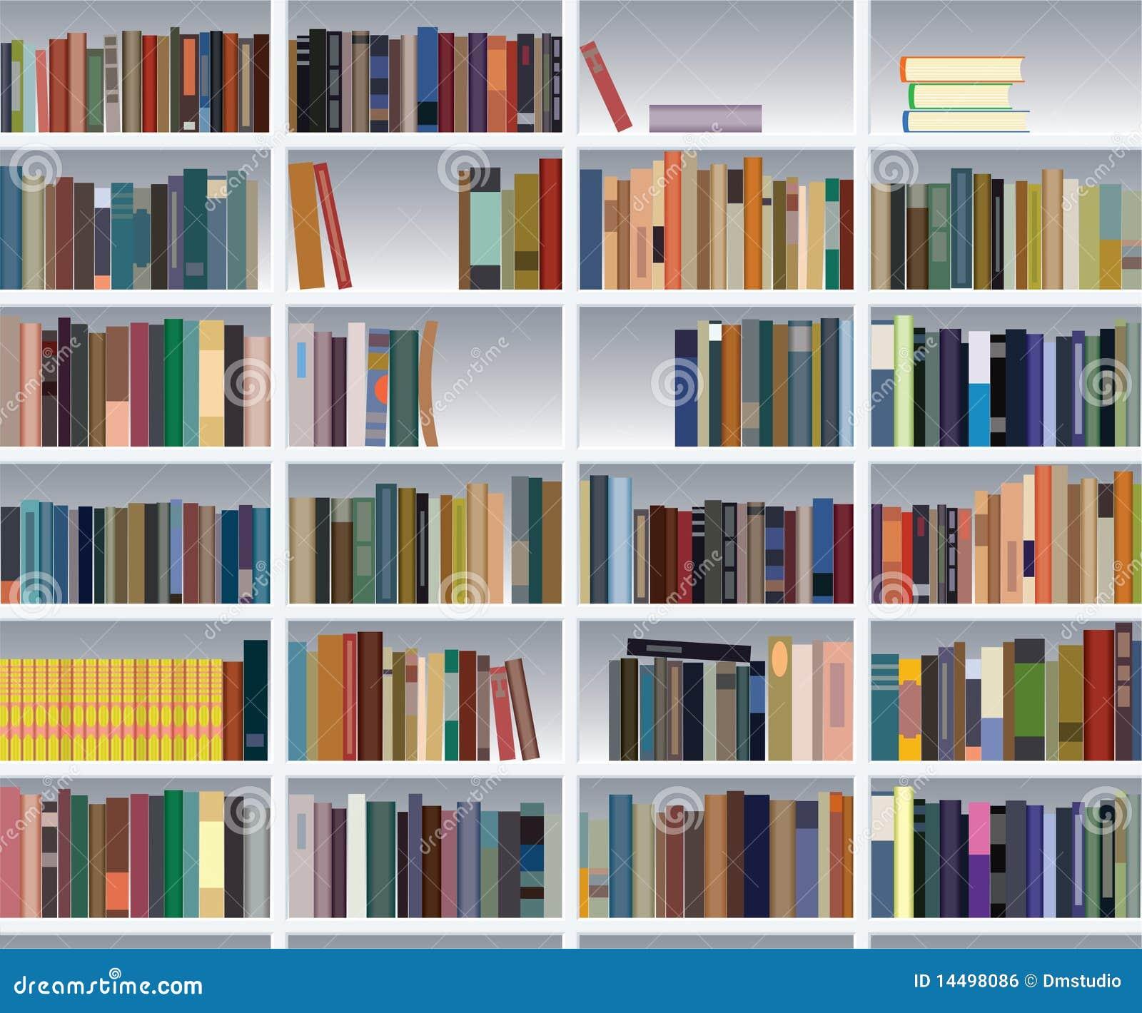 Modernes Bücherregal Lizenzfreies Stockbild  Bild 14498086