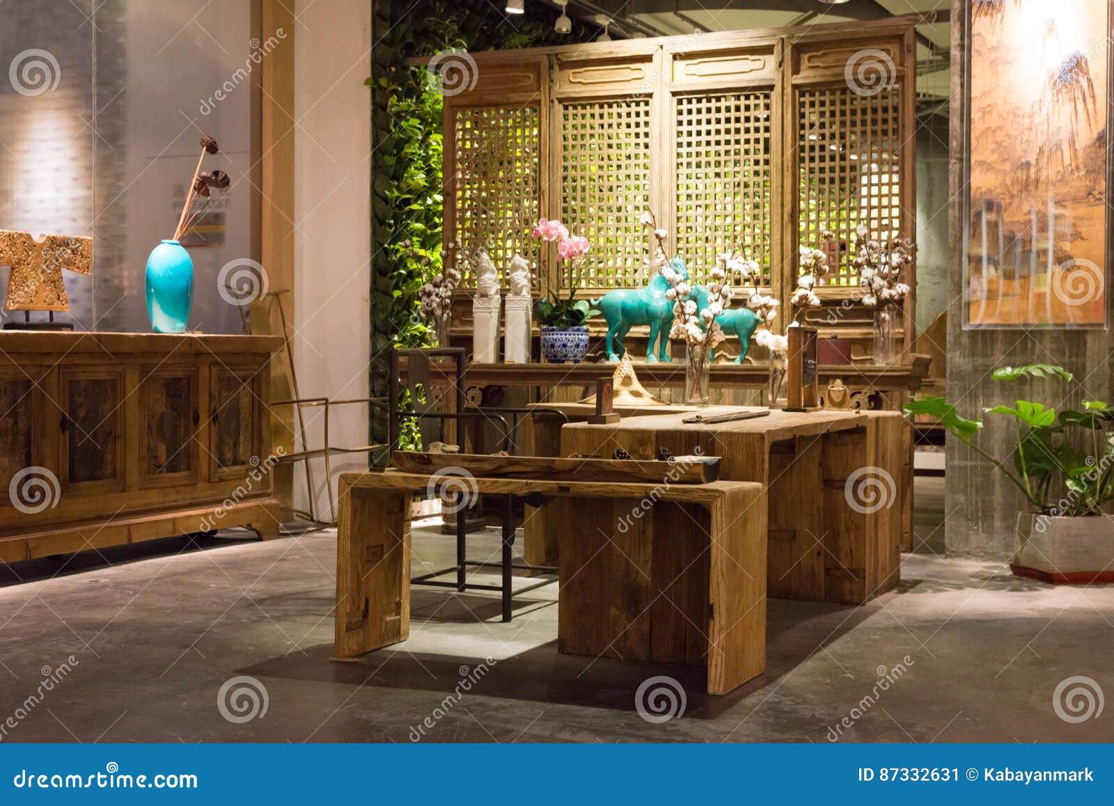 Innenraumfenster  Modernes Design - Innenraum, Fenster Beleuchtete Holzmöbel, Show ...