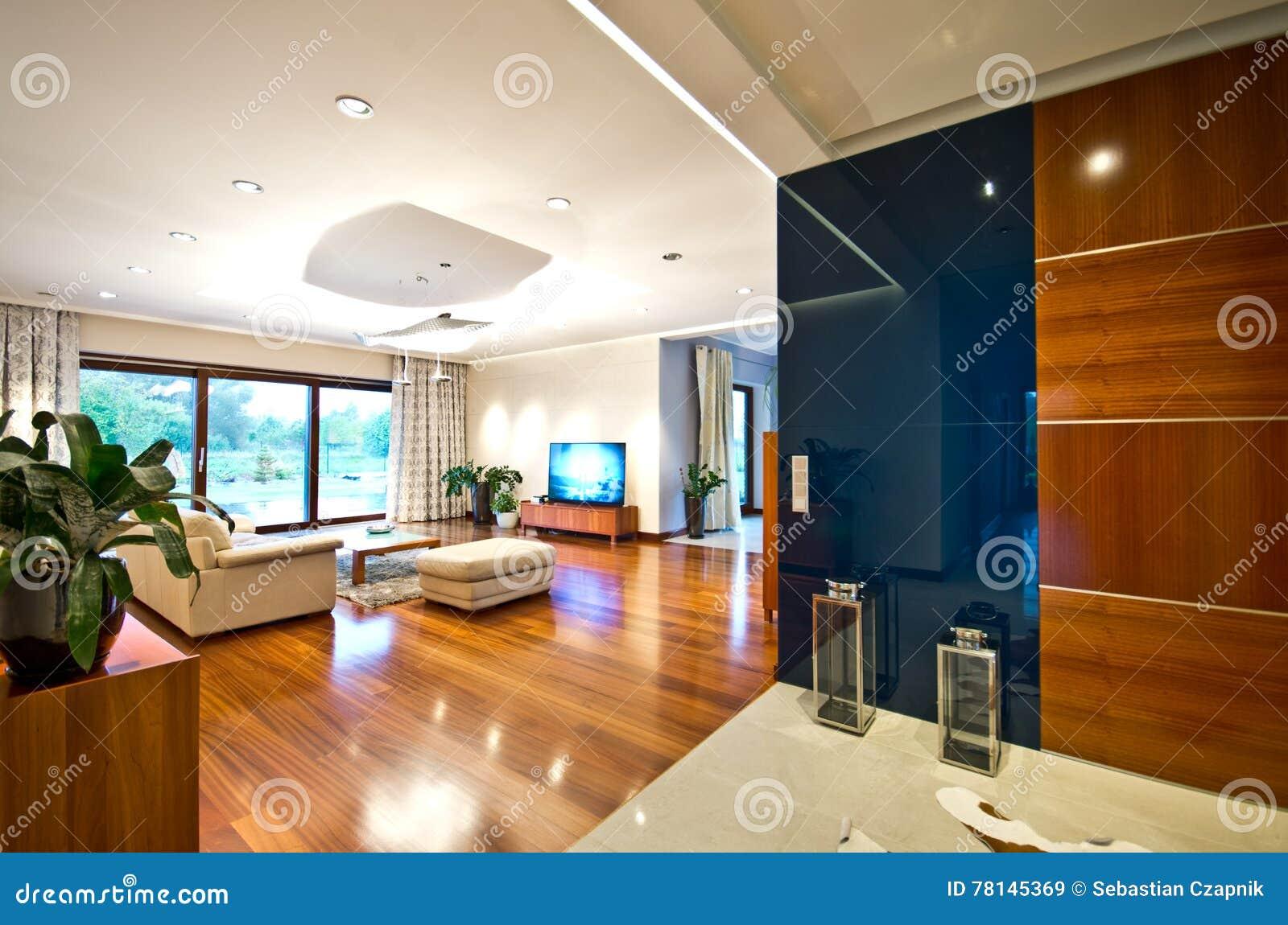 Modernes elegantes wohnzimmer