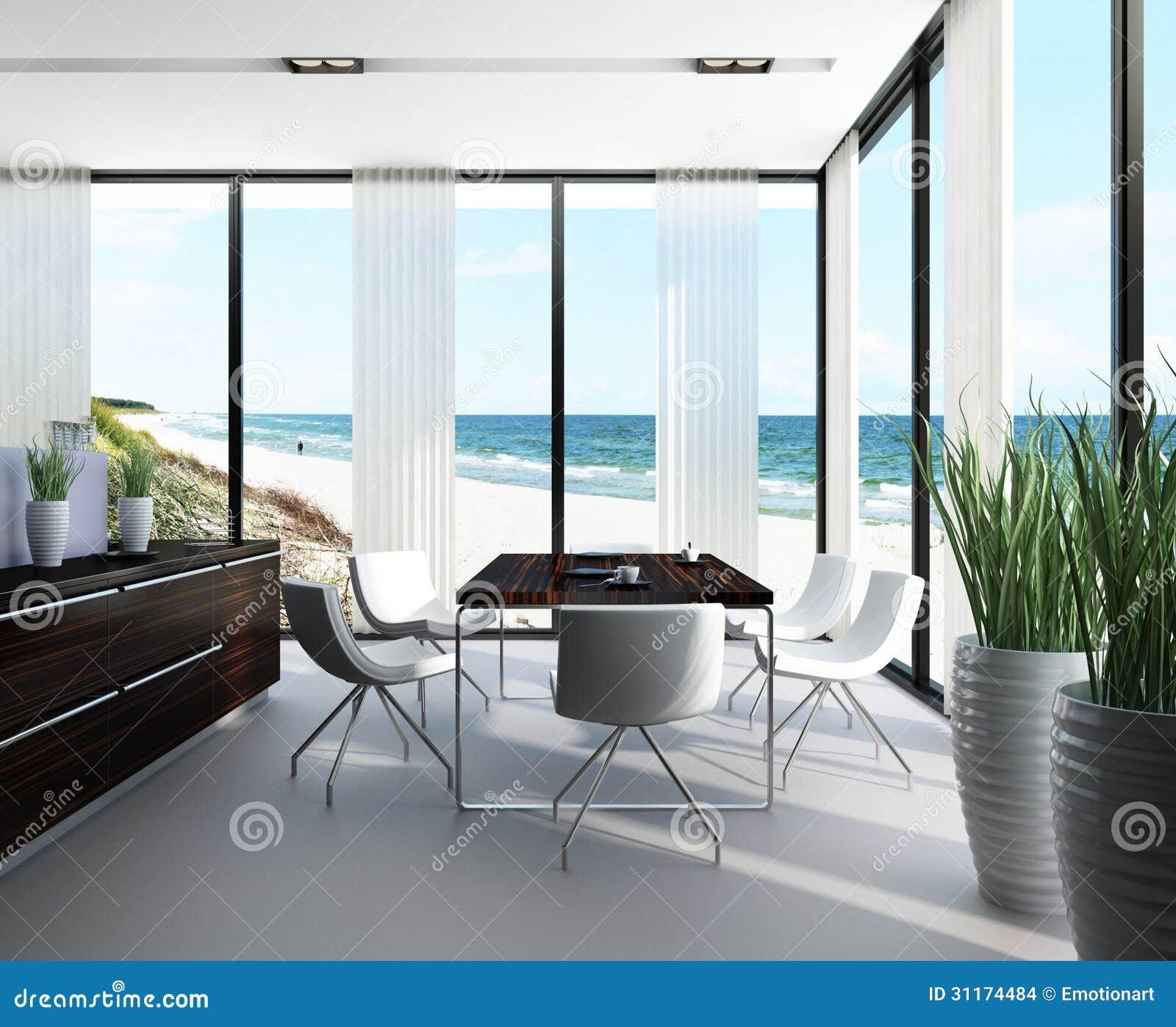 Modernes esszimmer innenarchitektur stock abbildung for Innenarchitektur esszimmer