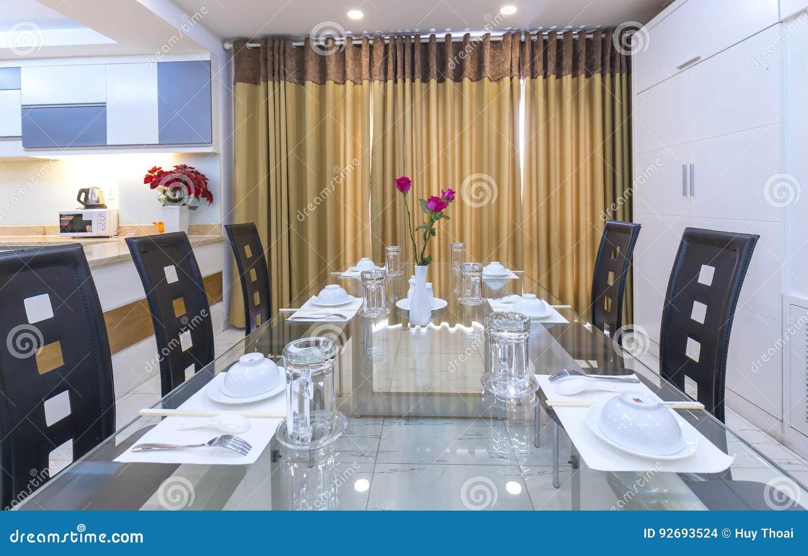 Download Modernes Esszimmer, Küche In Den Luxuswohnungen Redaktionelles  Stockbild   Bild Von Küche, Stuhl