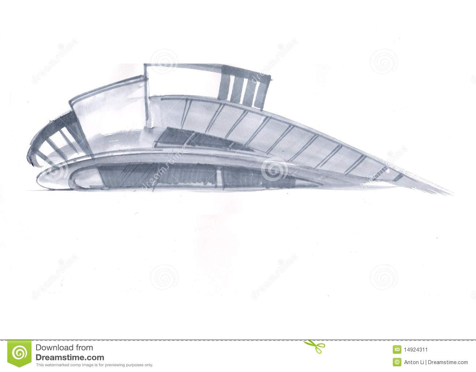 modernes haus stock abbildung bild von auszug gezeichnet