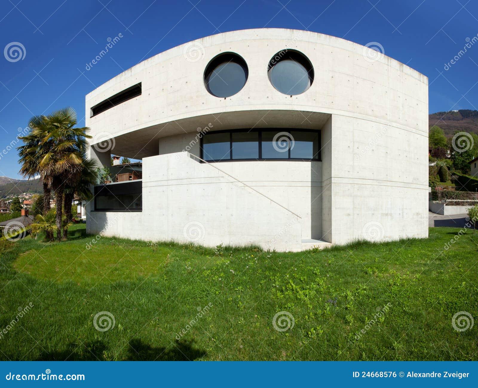 Modernes Haus im beton stockfoto. Bild von haupt, kleber - 24668576