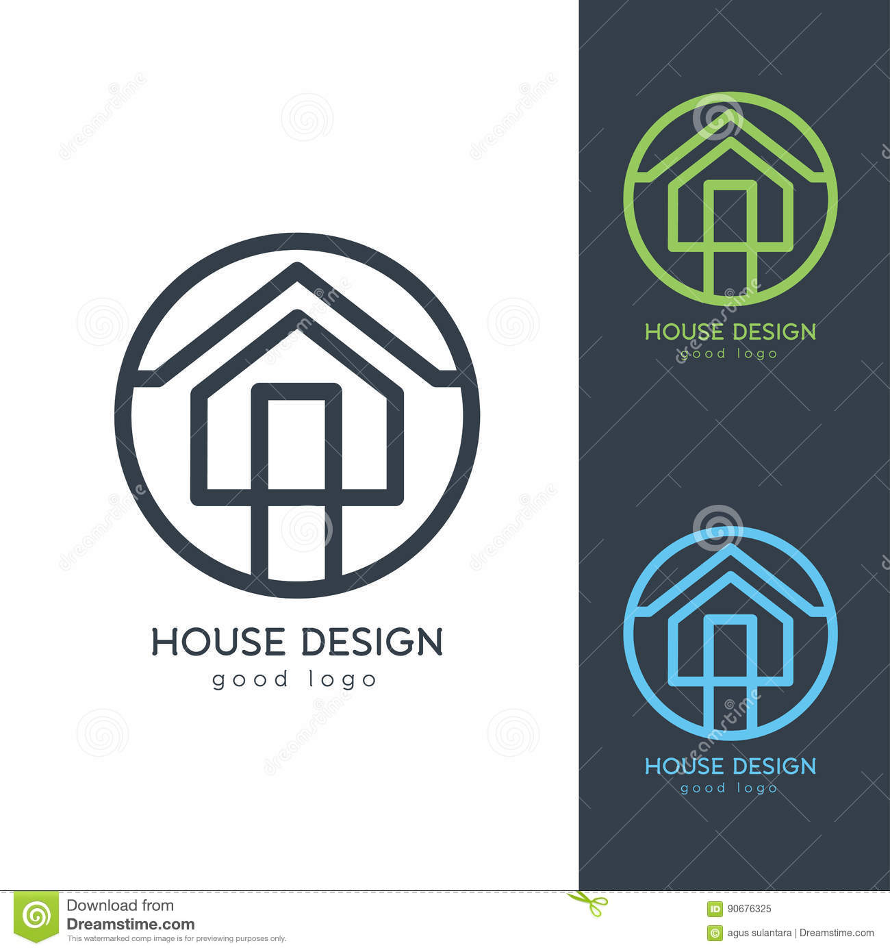 Modernes Haus Logo Design Template Flat Simple Stock Abbildung ...