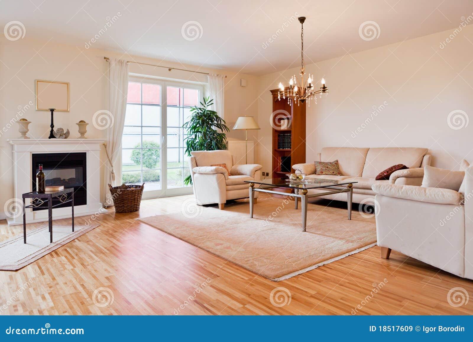 Modernes haus wohnzimmer stockbild bild von stuhl for Modernes haus wohnzimmer