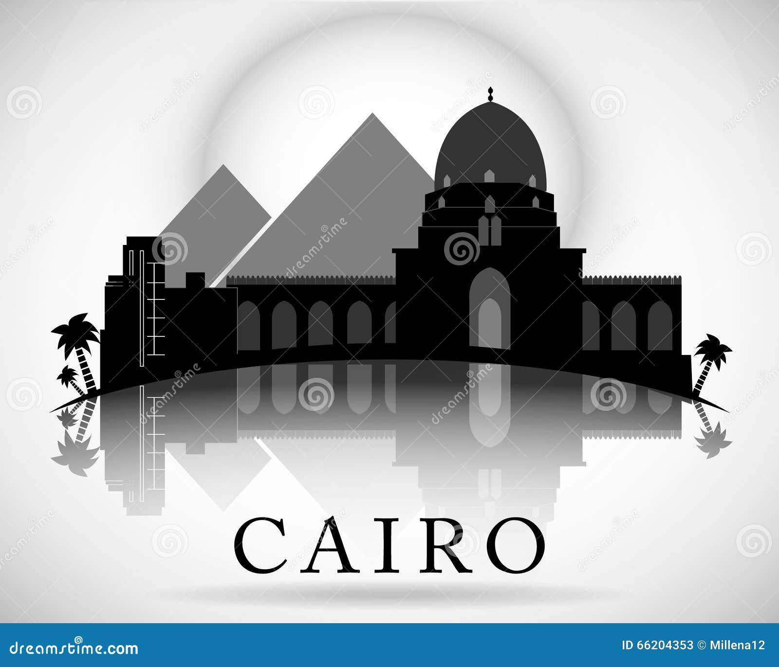 Modernes Kairo Stadt Skyline Design Egypt Vektor Abbildung