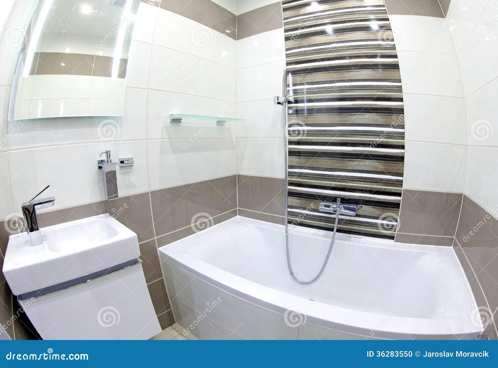 Modernes Kleines Badezimmer Stockfoto