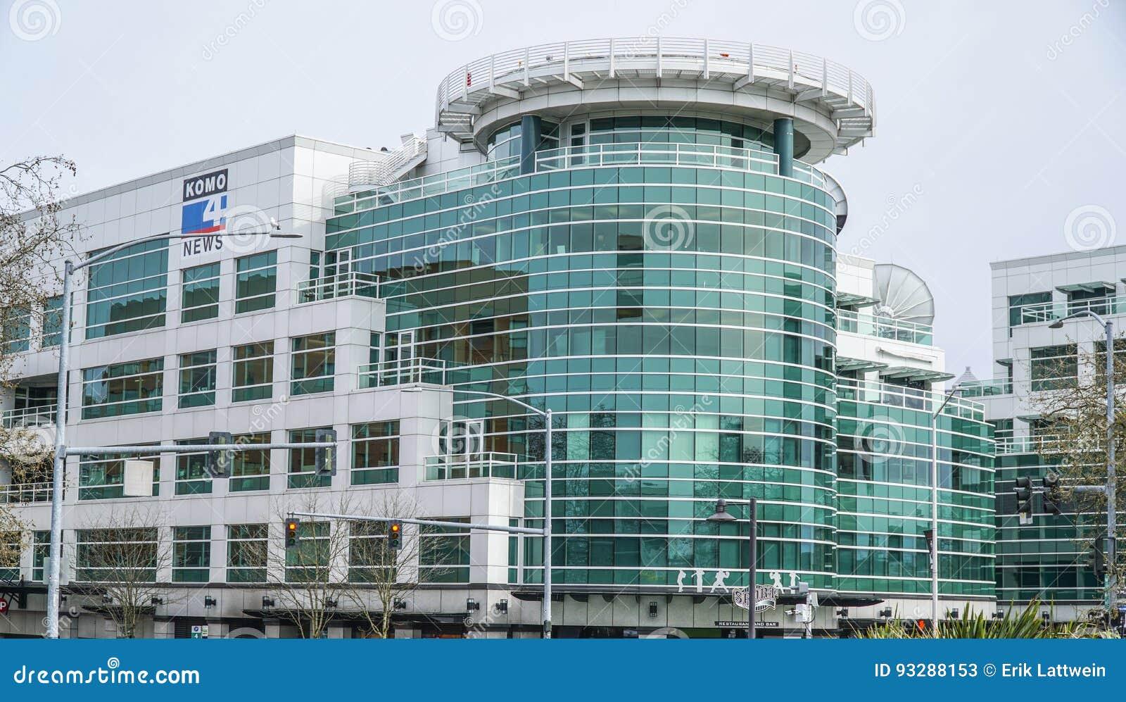 Modernes Komo-Piazza-Gebäude In Seattle - Bekannt Von Der Grau ...