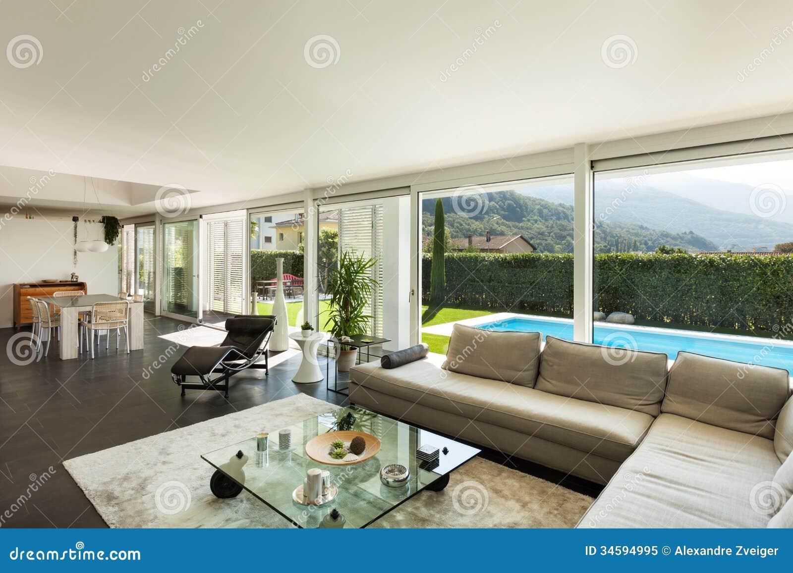 Modernes Landhaus Schöner Innenraum Stockbild Bild Von Möbel
