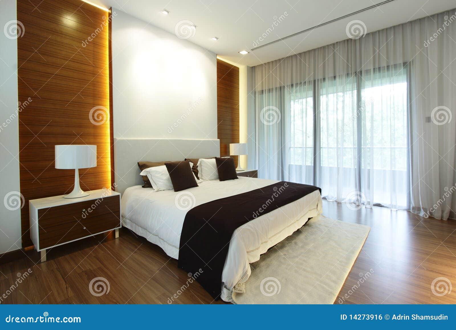 Modernes Schlafzimmer stockfoto. Bild von modern, kissen - 14273916