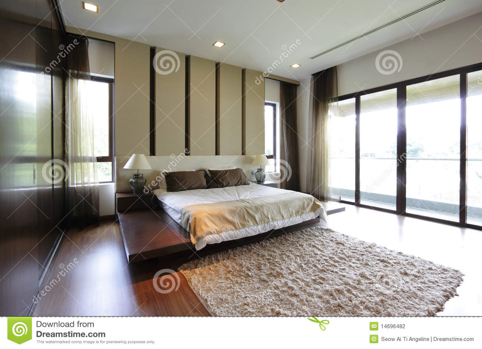 Modernes schlafzimmer stockfotografie bild 14696482